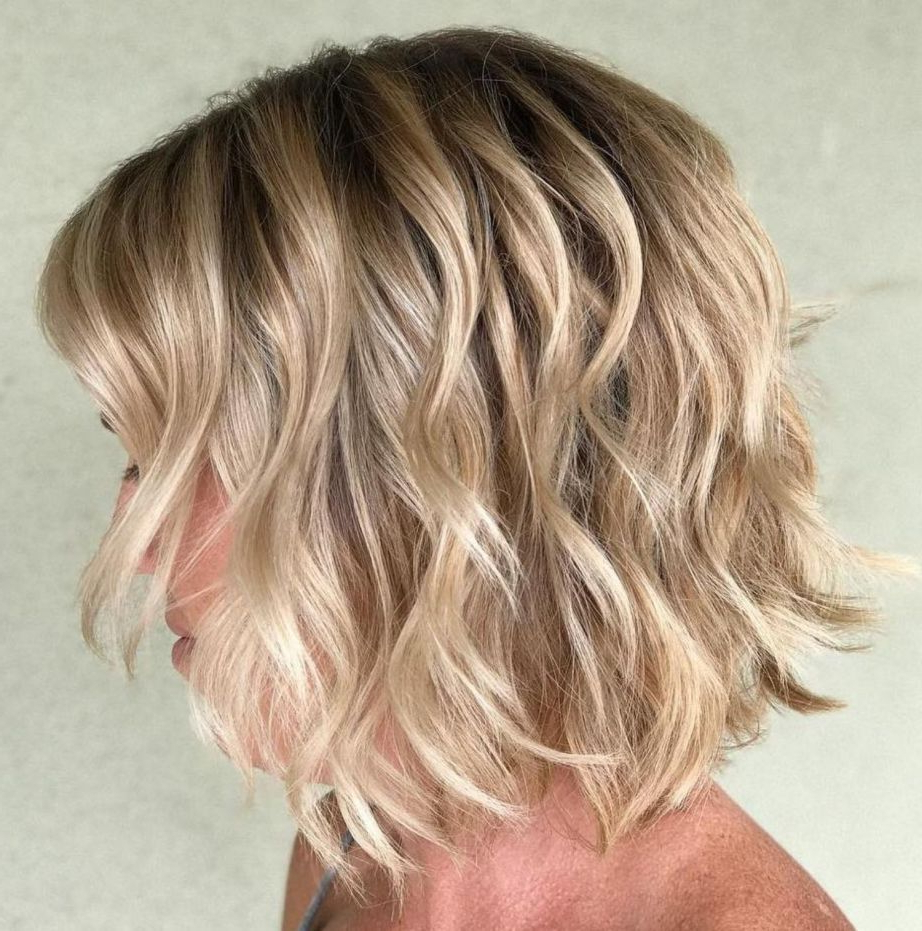 70 Winning Looks With Bob Haircuts For Fine Hair In 2019 Intended For Shaggy Blonde Bob Hairstyles With Bangs (View 12 of 20)