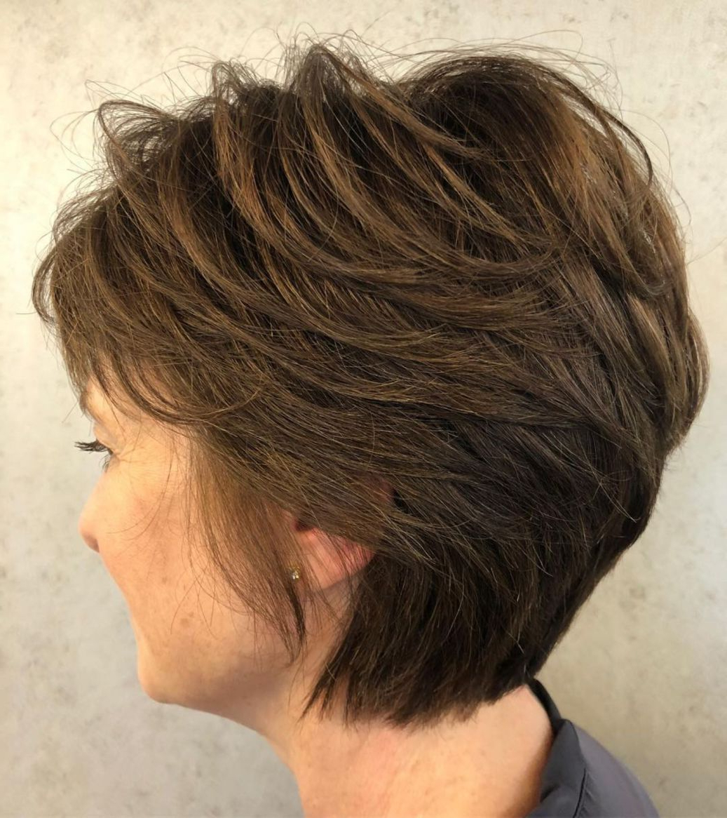 80 Best Modern Hairstyles And Haircuts For Women Over 50 In In Two Tone Feathered Pixie Haircuts (View 8 of 20)