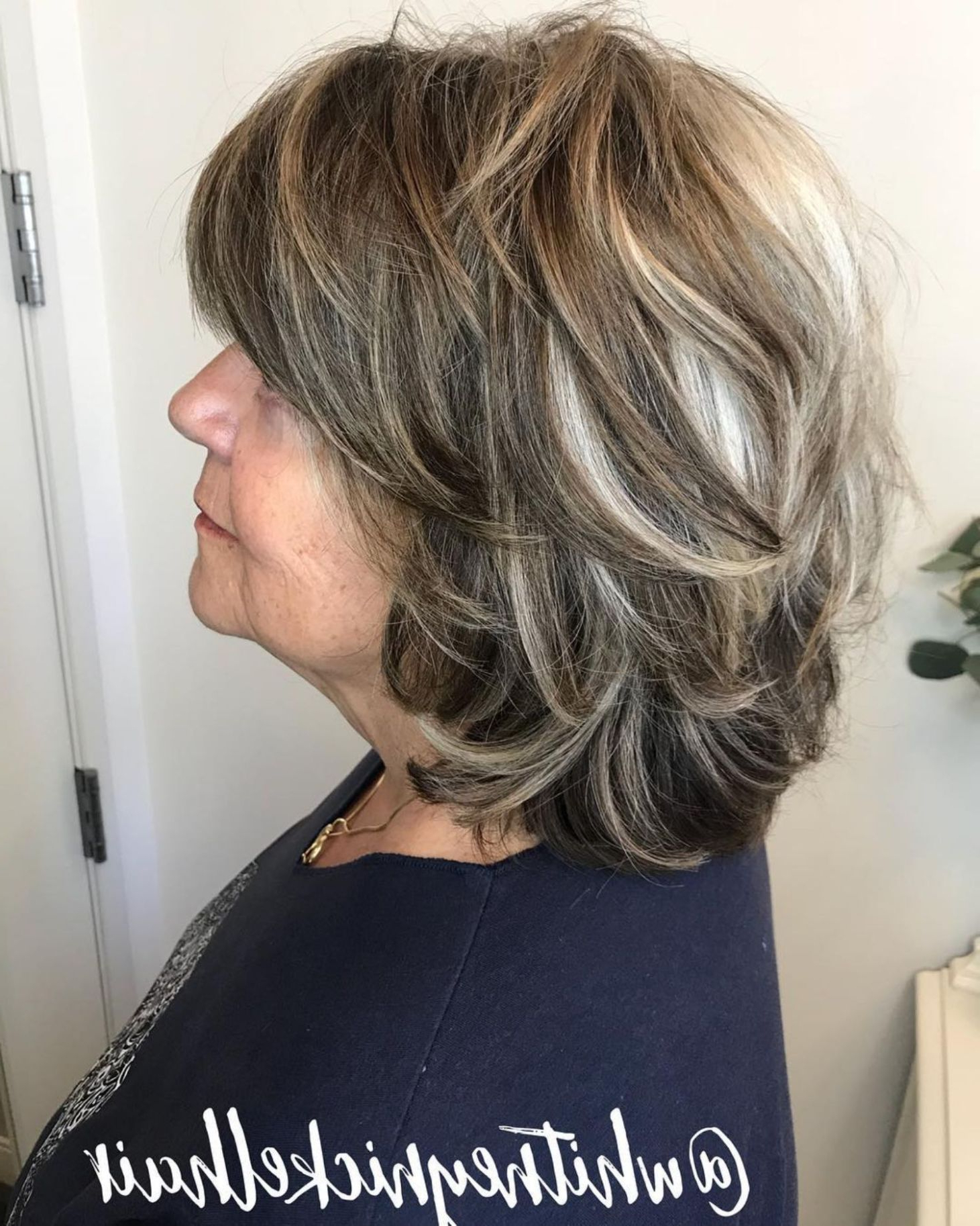 80 Best Modern Hairstyles And Haircuts For Women Over 50 In Regarding Fashionable Medium Piece Y Feathered Haircuts (View 2 of 20)