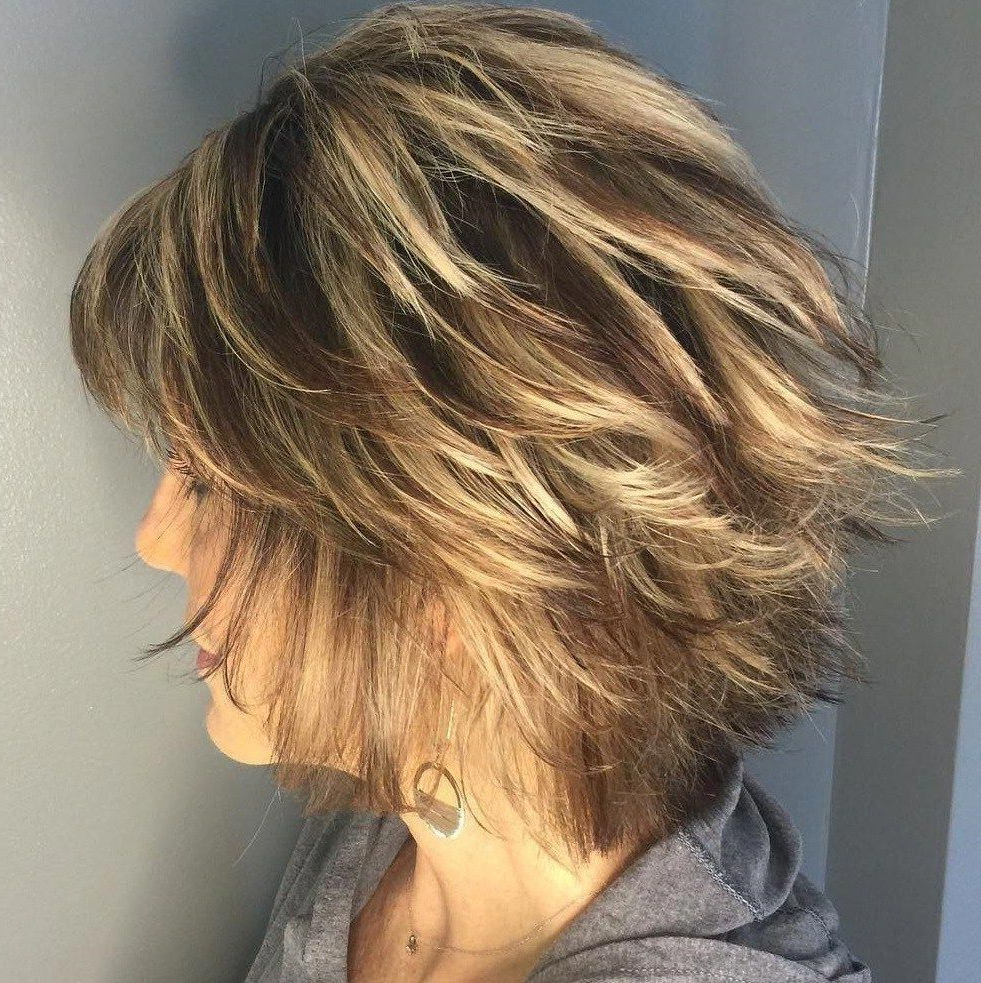 80 Best Modern Hairstyles And Haircuts For Women Over 50 Throughout Golden Bronde Bob Hairstyles With Piecey Layers (View 11 of 20)