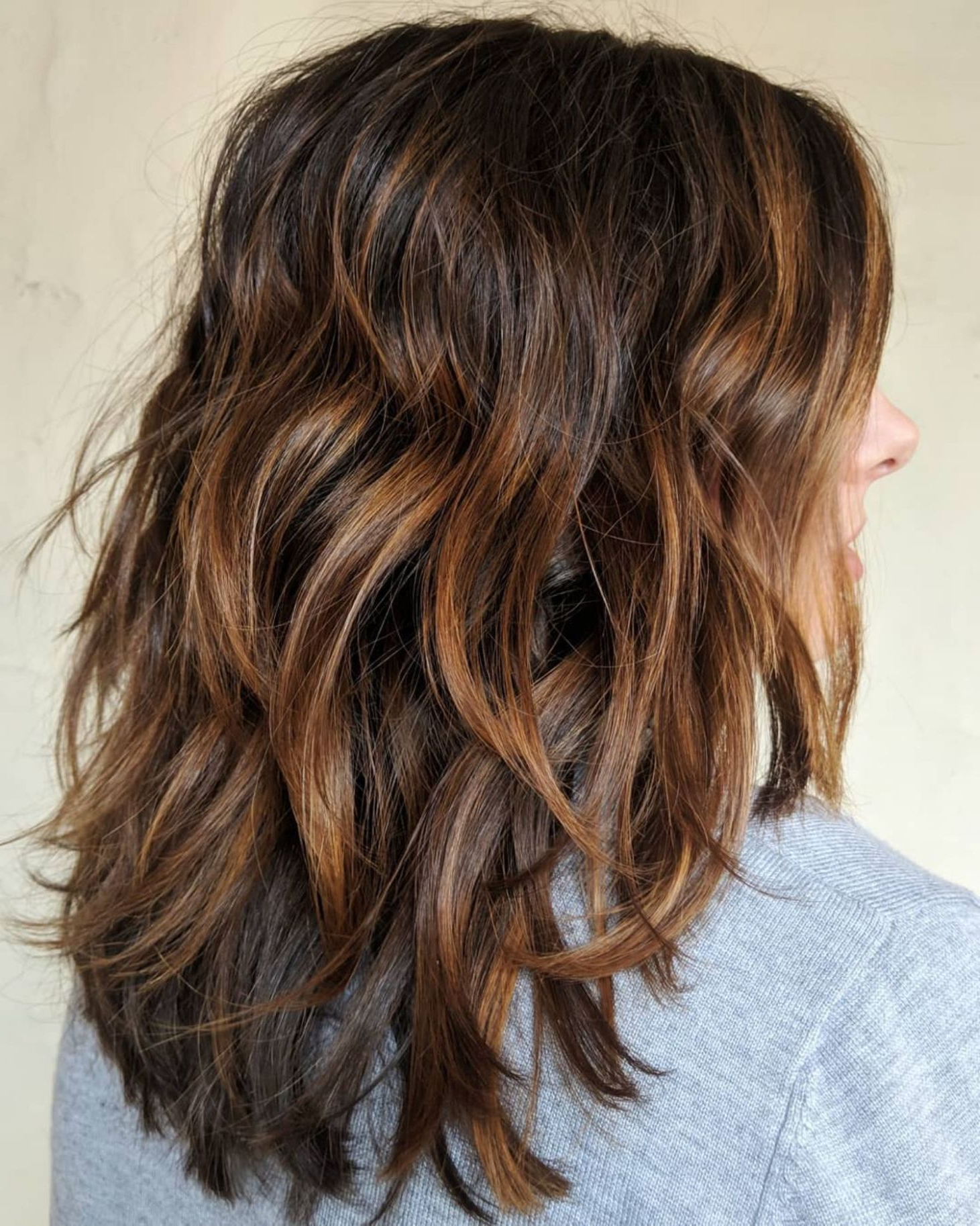 80 Sensational Medium Length Haircuts For Thick Hair In 2019 Regarding Newest Shiny Brunette Shag Haircuts For Long Hair (View 2 of 20)