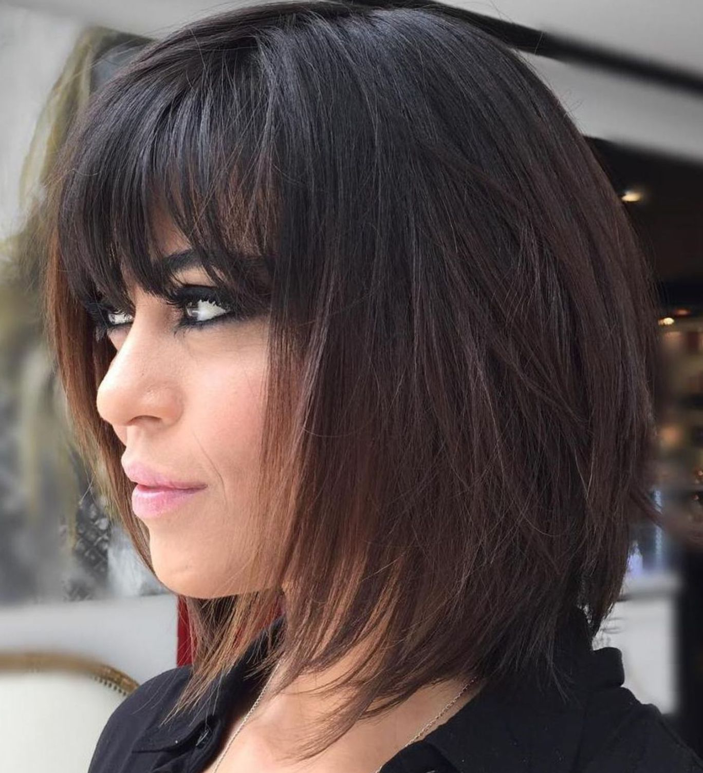 Featured Photo of Medium Layered Black Hairstyles
