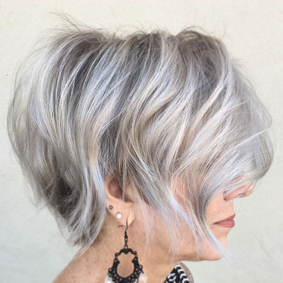 90 Classy And Simple Short Hairstyles For Women Over 50 In Inside Sophisticated Wavy Ash Blonde Pixie Bob Hairstyles (View 18 of 20)