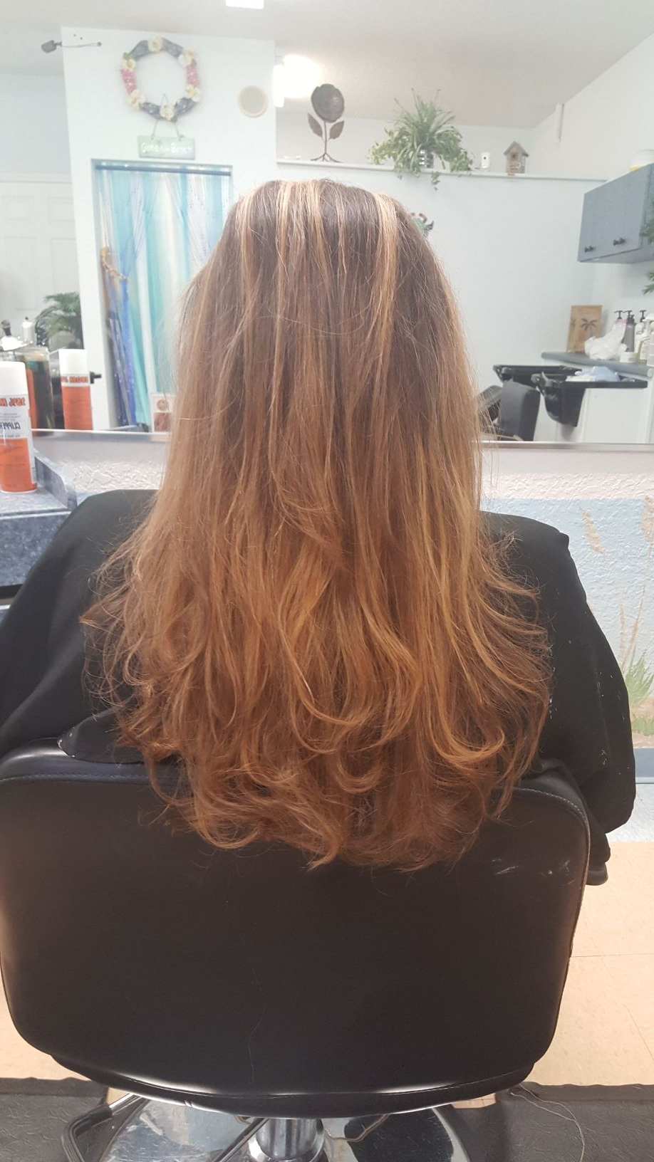 After Her Color And Haircut | Cuts And Color @tropical Waves In Waves Of Color Shag Haircuts (View 16 of 20)