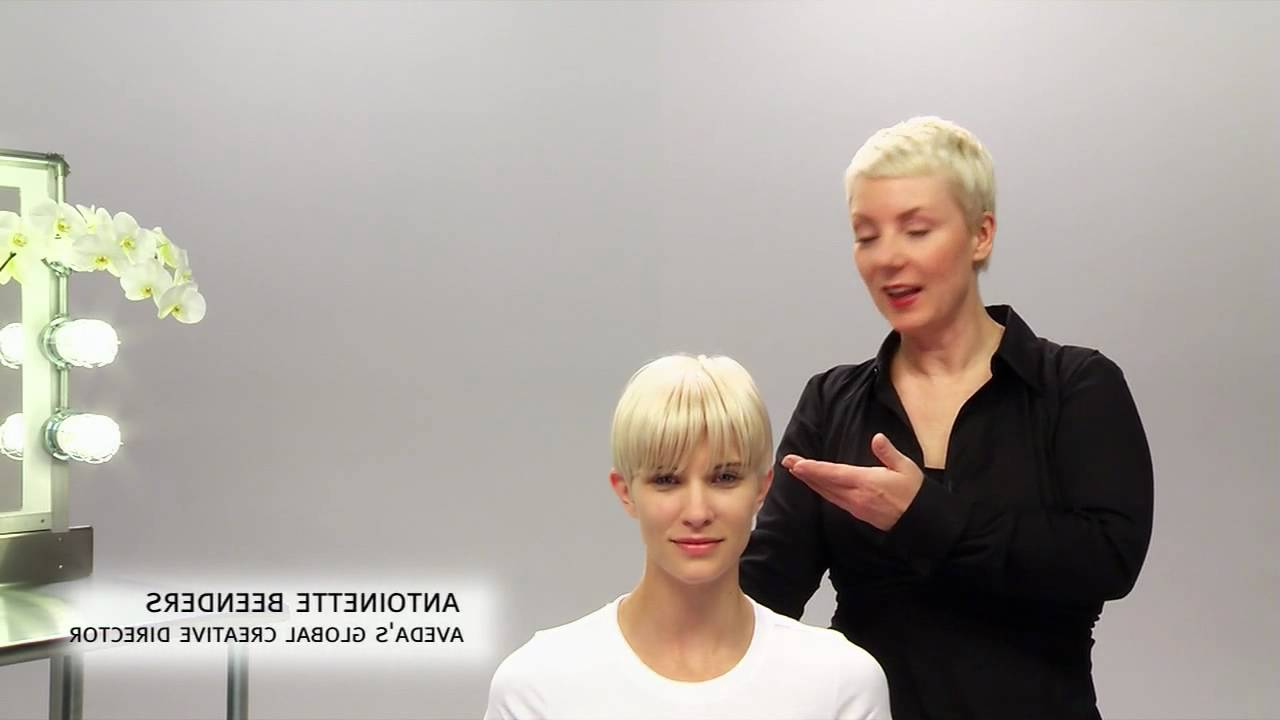 Aveda How To | The Tousled Look For Short Hairstyles Within Gray Pixie Haircuts With Messy Crown (View 18 of 20)