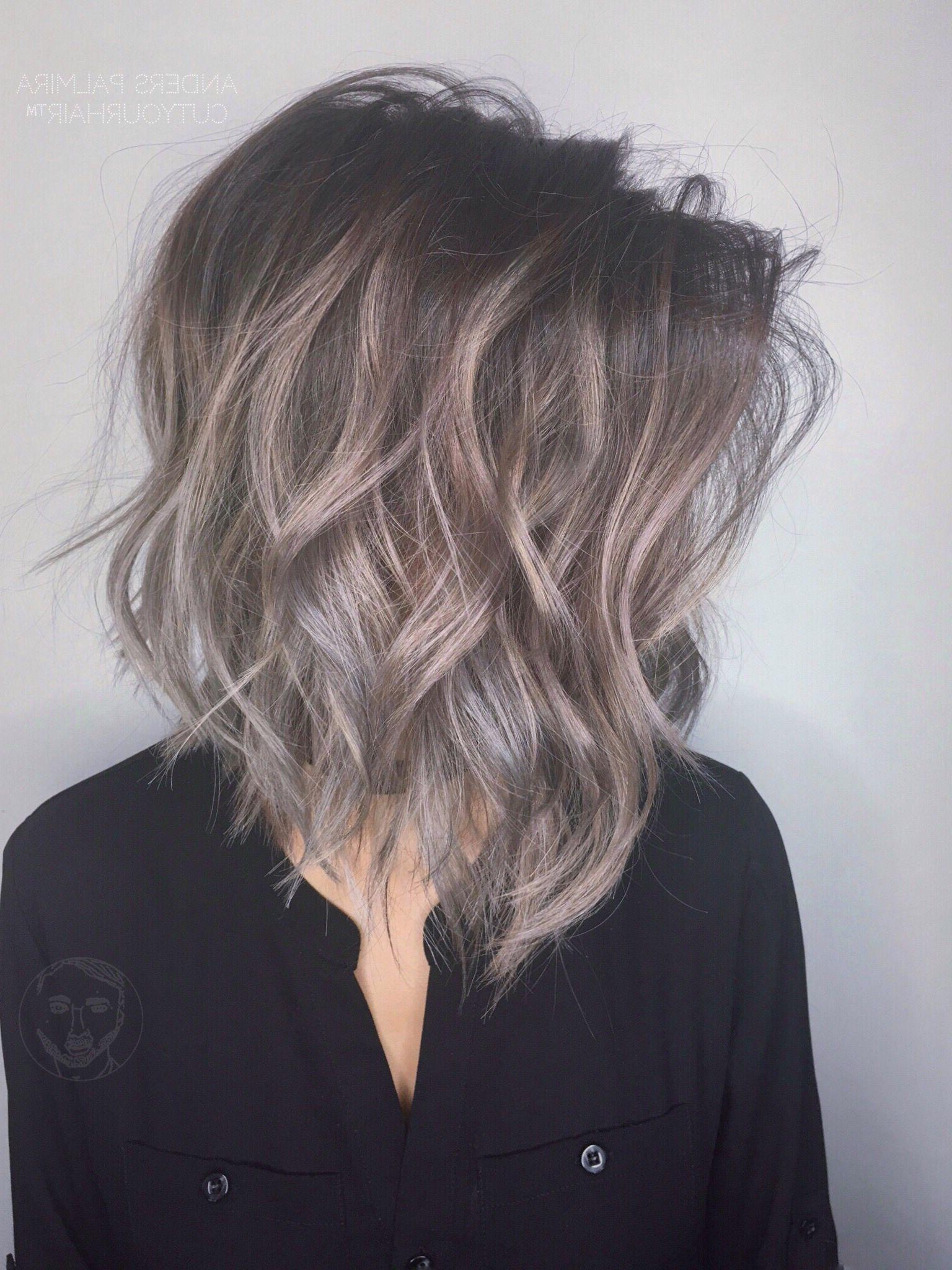 Aveda Wavy Long Blonde Bob Short Hair Beach Wave Medium Within Waves Of Color Shag Haircuts (View 6 of 20)