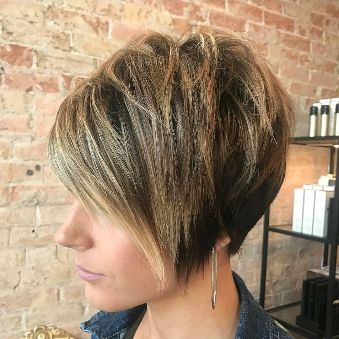 Best 10 Trendy Short Hairstyles With Bangs | Pouted Inside Asymmetrical Side Sweep Hairstyles (View 12 of 20)