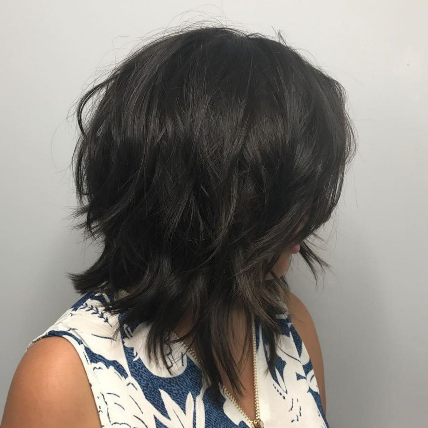 Featured Photo of Black Angled Bob Hairstyles With Shaggy Layers