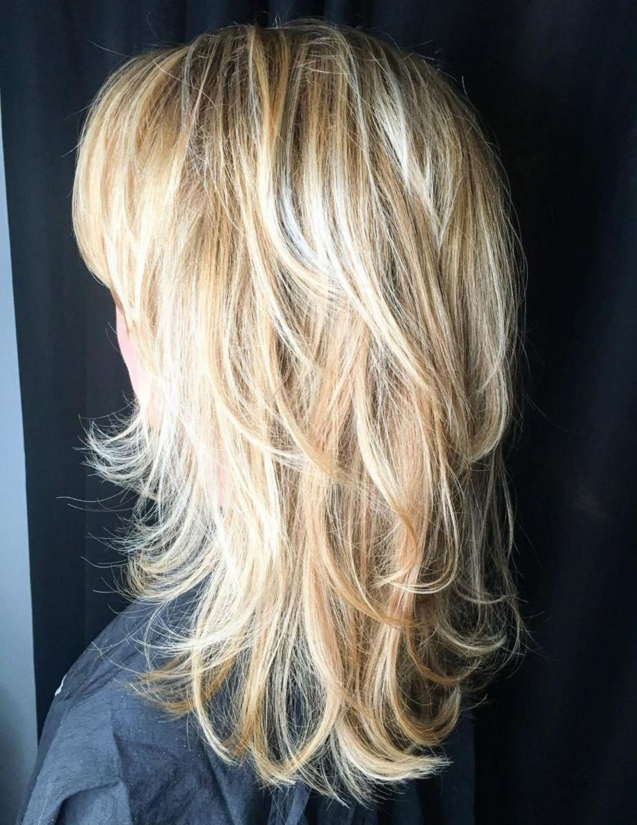 Featured Photo of Blondie Bombshell Long Shag Hairstyles