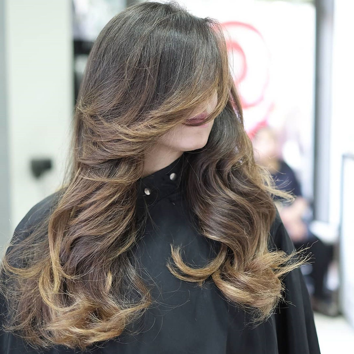 Best And Newest Layered And Tousled Brunette Hairstyles For 50 Cute And Effortless Long Layered Haircuts With Bangs (View 8 of 20)