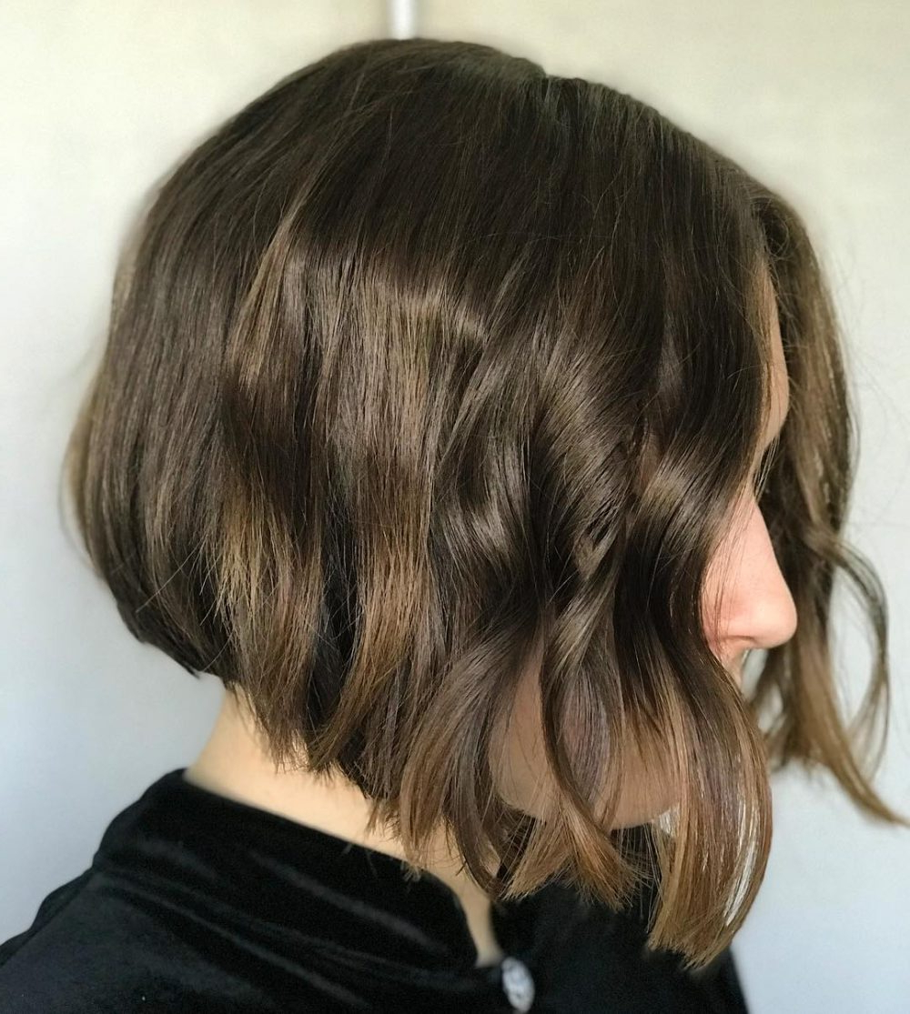 Best And Newest Layered And Tousled Brunette Hairstyles With Regard To 23 Cutest Chin Length Hairstyles (trending For 2019) (View 17 of 20)