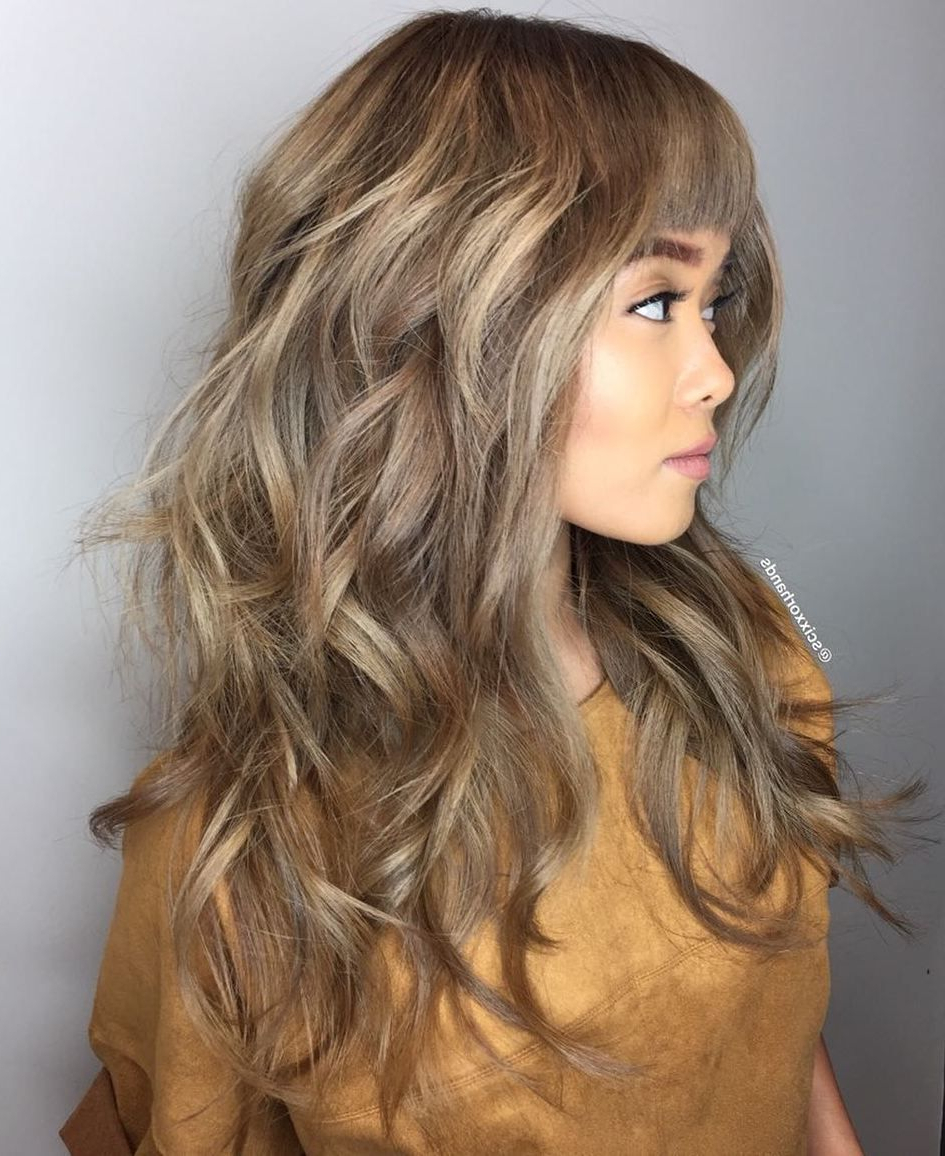 Best And Newest Long Wavy Layers Hairstyles For 50 Cute And Effortless Long Layered Haircuts With Bangs In (View 3 of 20)