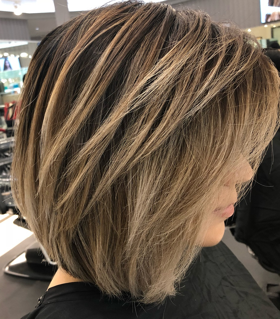 Best And Newest Medium Shag Haircuts With Crown Layers Regarding 40 Awesome Ideas For Layered Bob Hairstyles You Can't Miss (View 9 of 20)