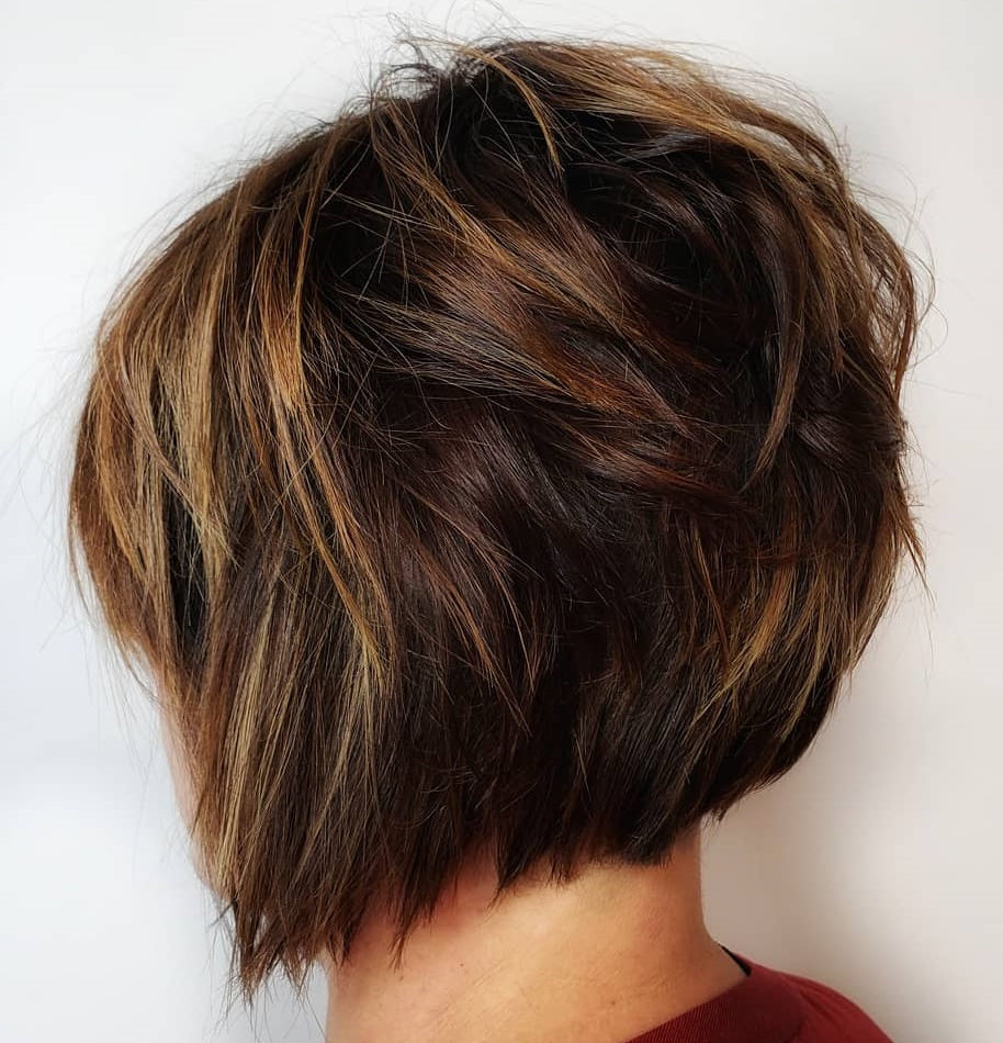 Best And Newest Wispy Layered Hairstyles In Spicy Color For 40 Awesome Ideas For Layered Bob Hairstyles You Can't Miss (View 5 of 20)