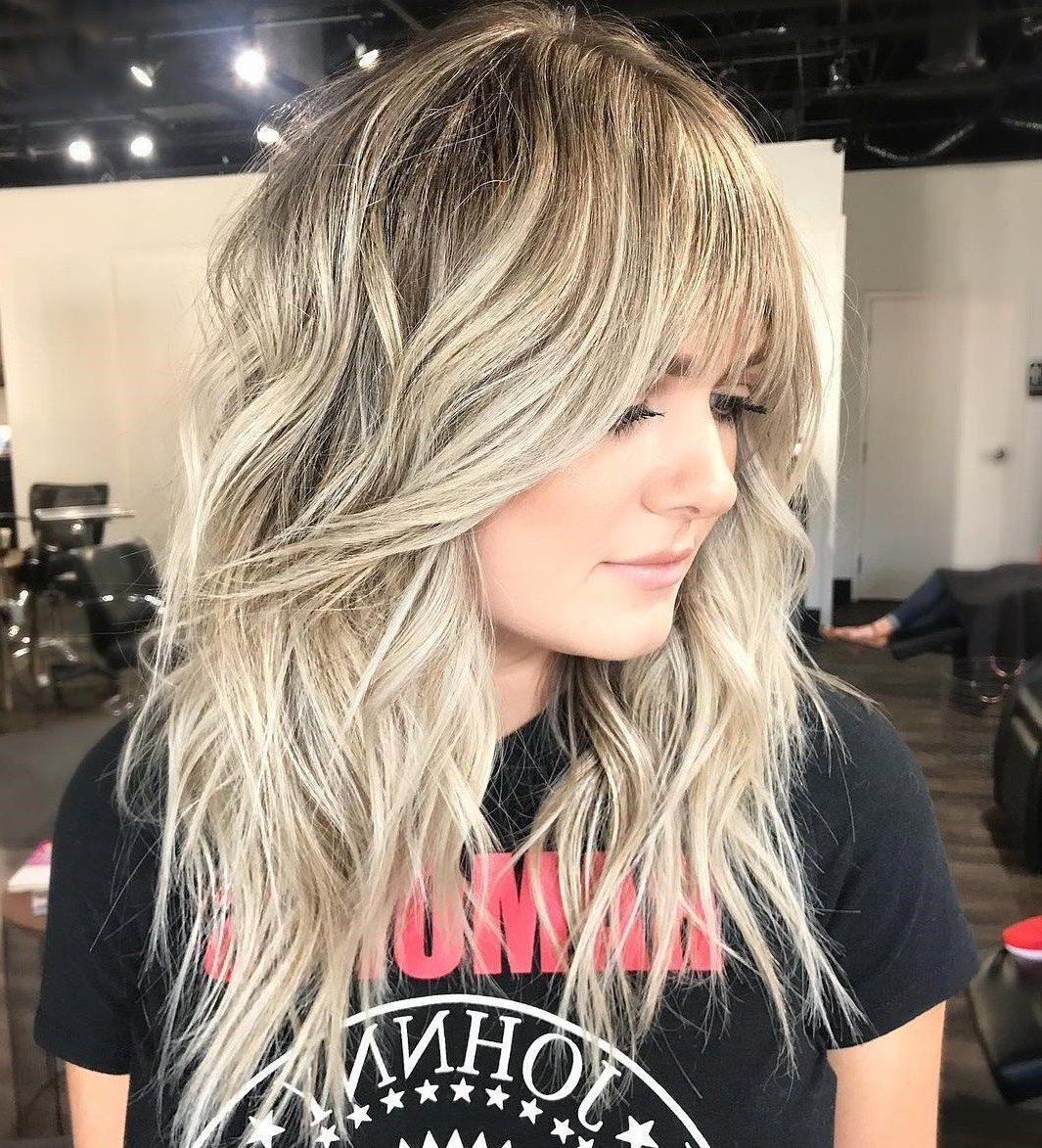 Blonde #long #shag #fine #hair #forlong Blonde Shag For Fine Pertaining To 2019 Longer Tousled Caramel Blonde Shag Haircuts (View 2 of 20)