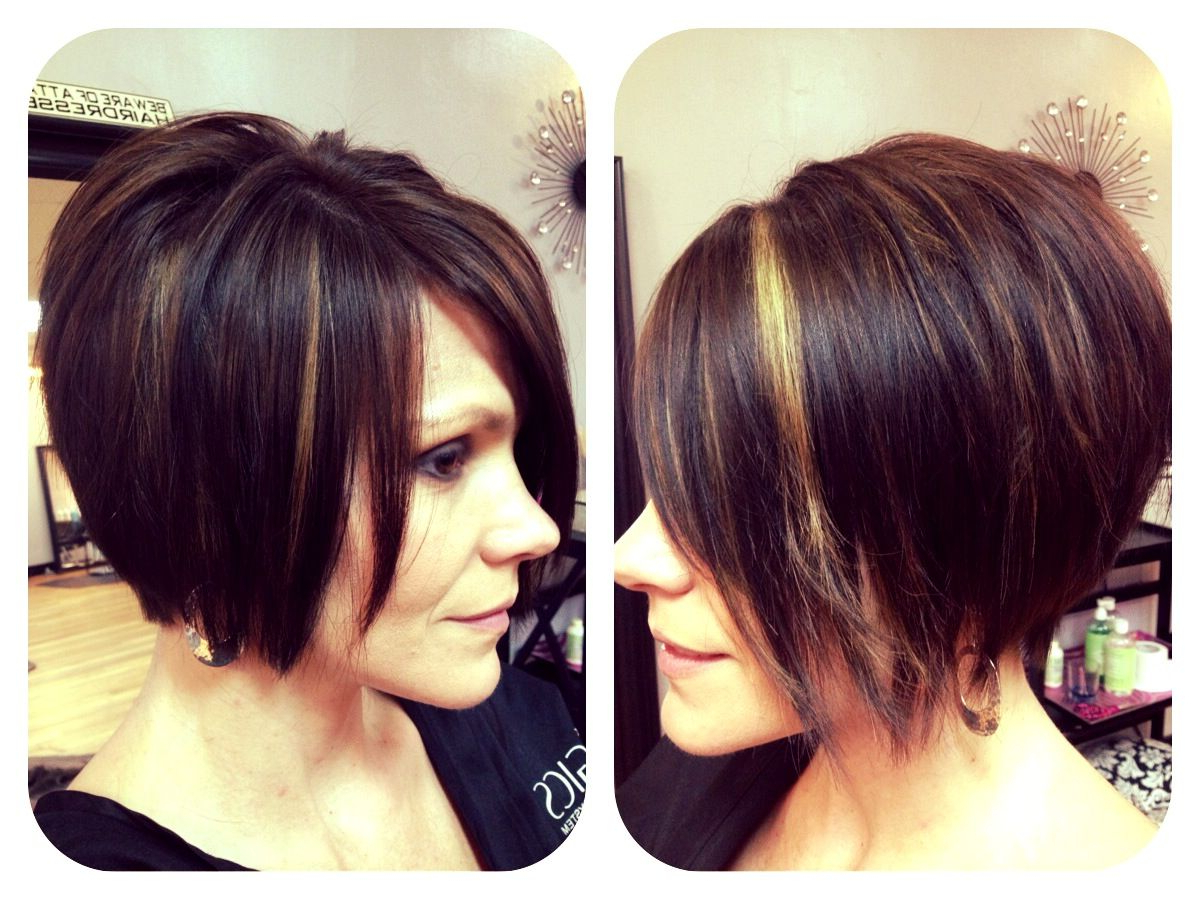 Chin Length Textured Bob With Shattered Ends ~ Chestnut Inside Side Parted Bob Hairstyles With Textured Ends (View 8 of 20)
