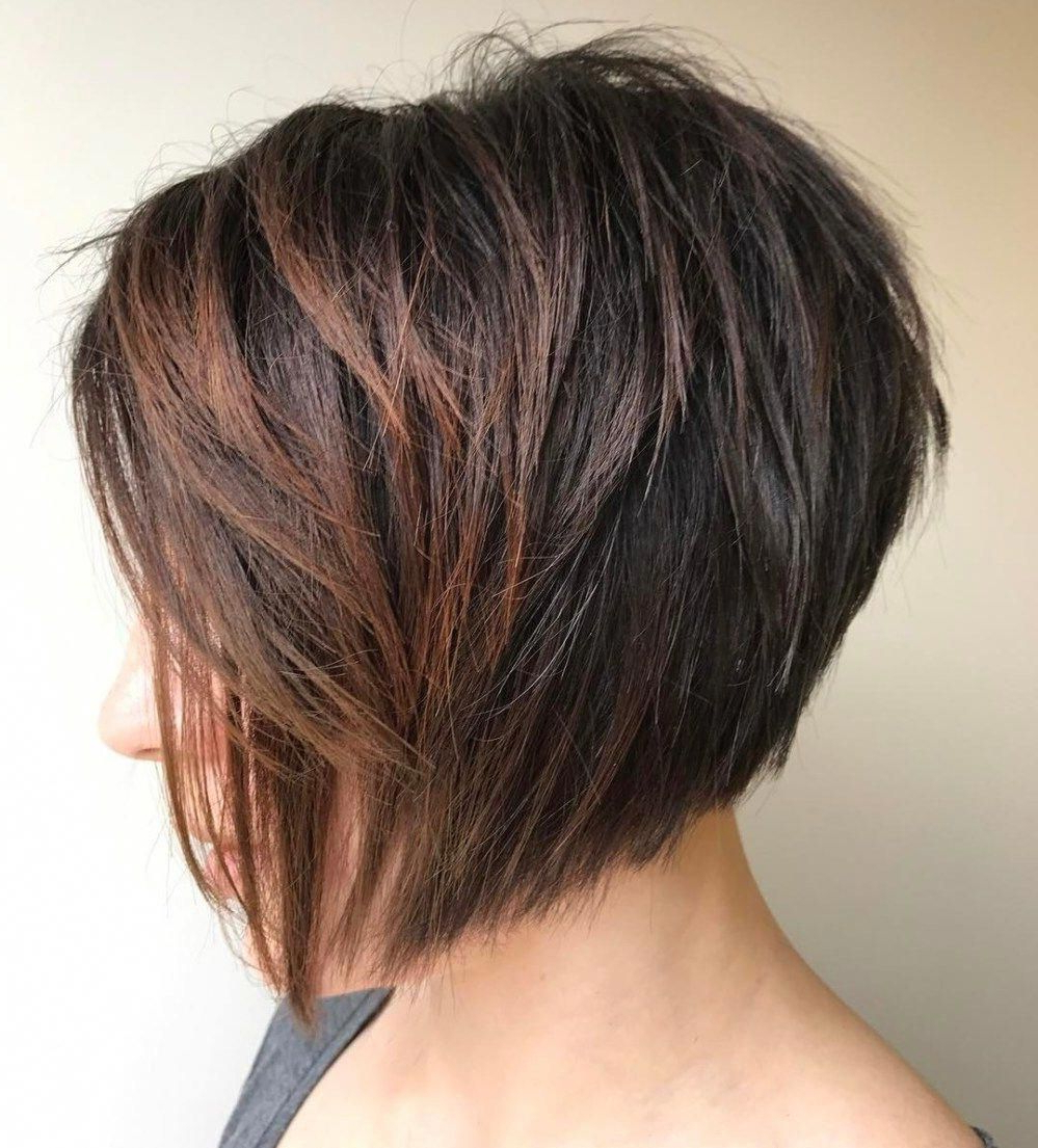 Featured Photo of Jaw Length Choppy Bob Hairstyles With Bangs