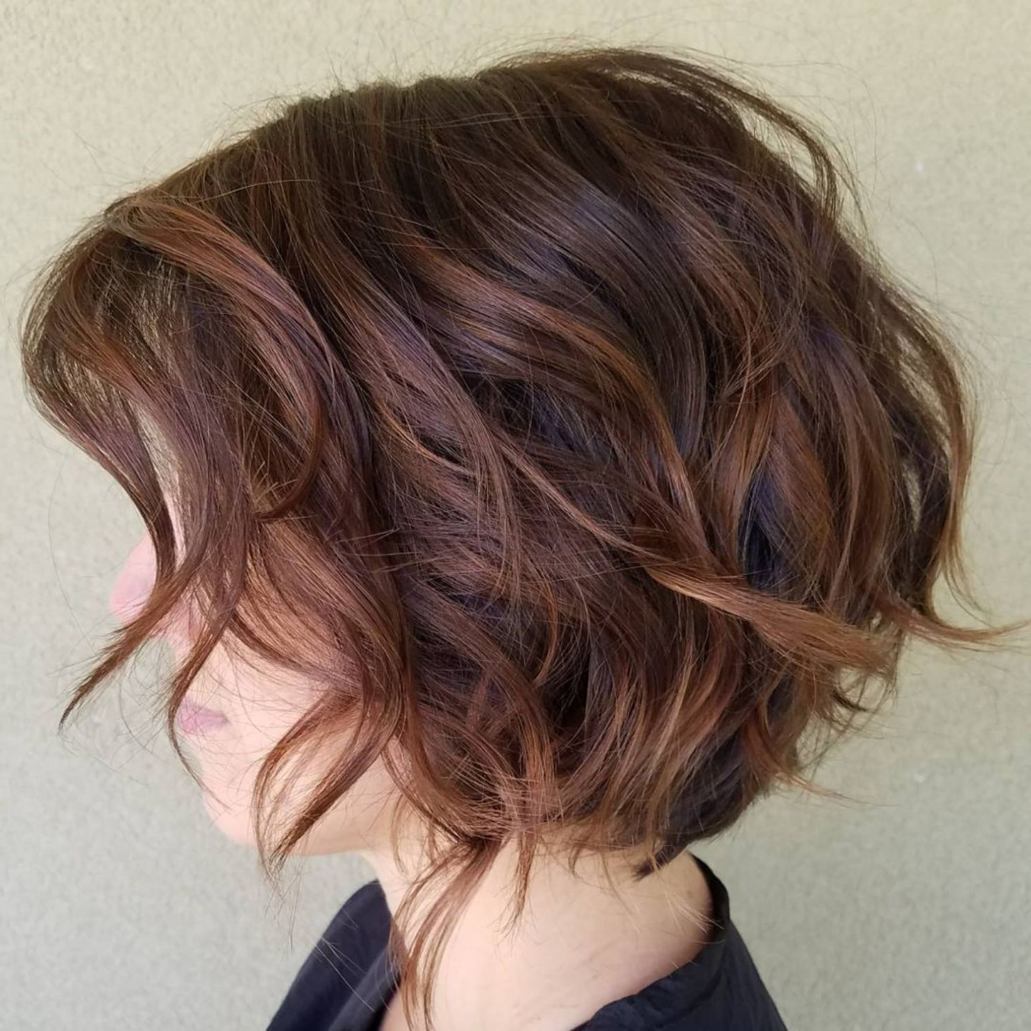 Choppy With 2018 Lovely Two Tone Choppy Lob Hairstyles (View 8 of 20)