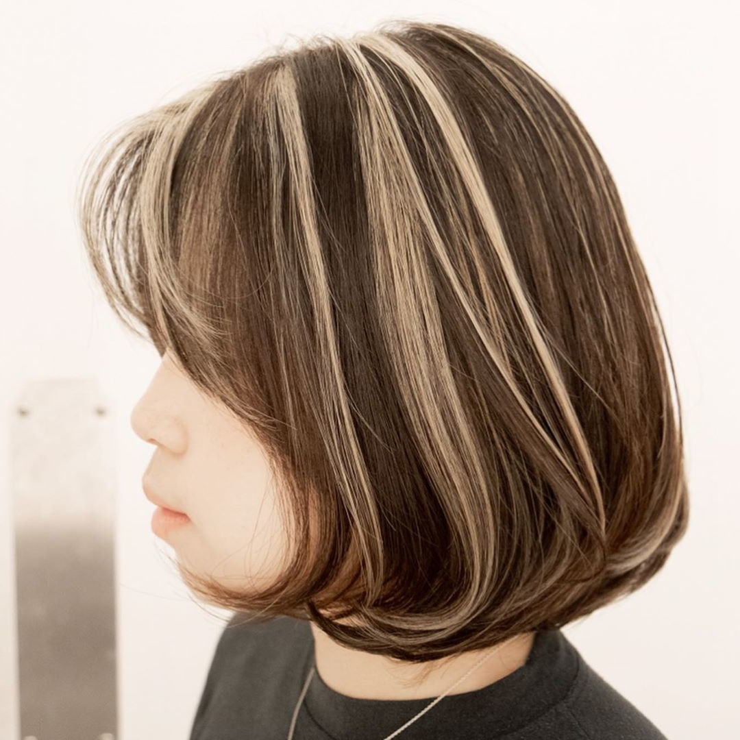 Chunky Highlight Hair Ideas – Stylebistro Inside Bob Hairstyles With Contrasting Highlights (View 16 of 20)
