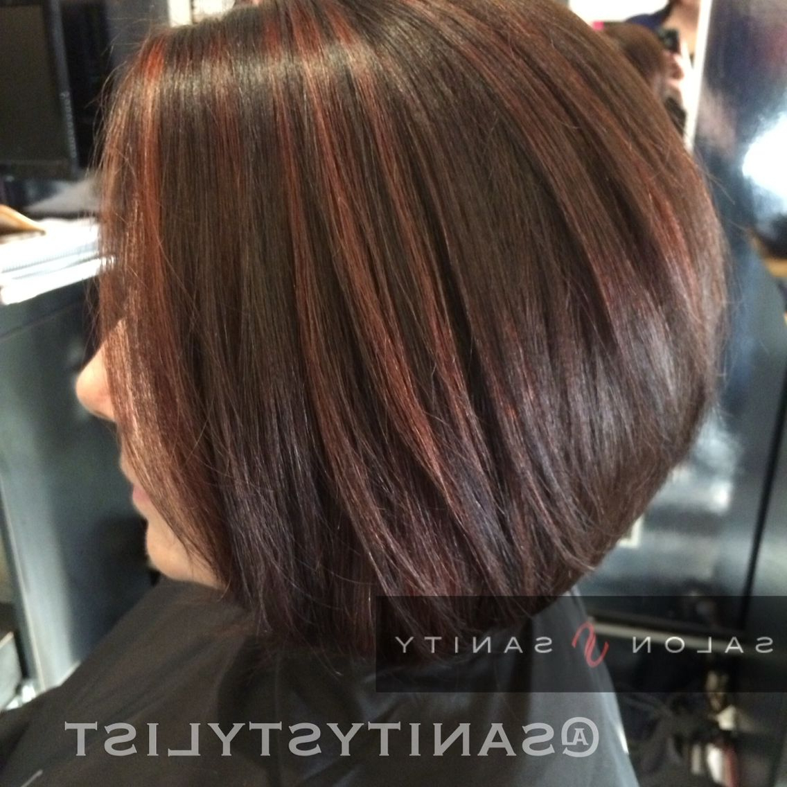 Cocoa Brown And Cinnamon Highlights In 2019 | Cinnamon Hair Within Dark Pixie Hairstyles With Cinnamon Streaks (View 8 of 20)