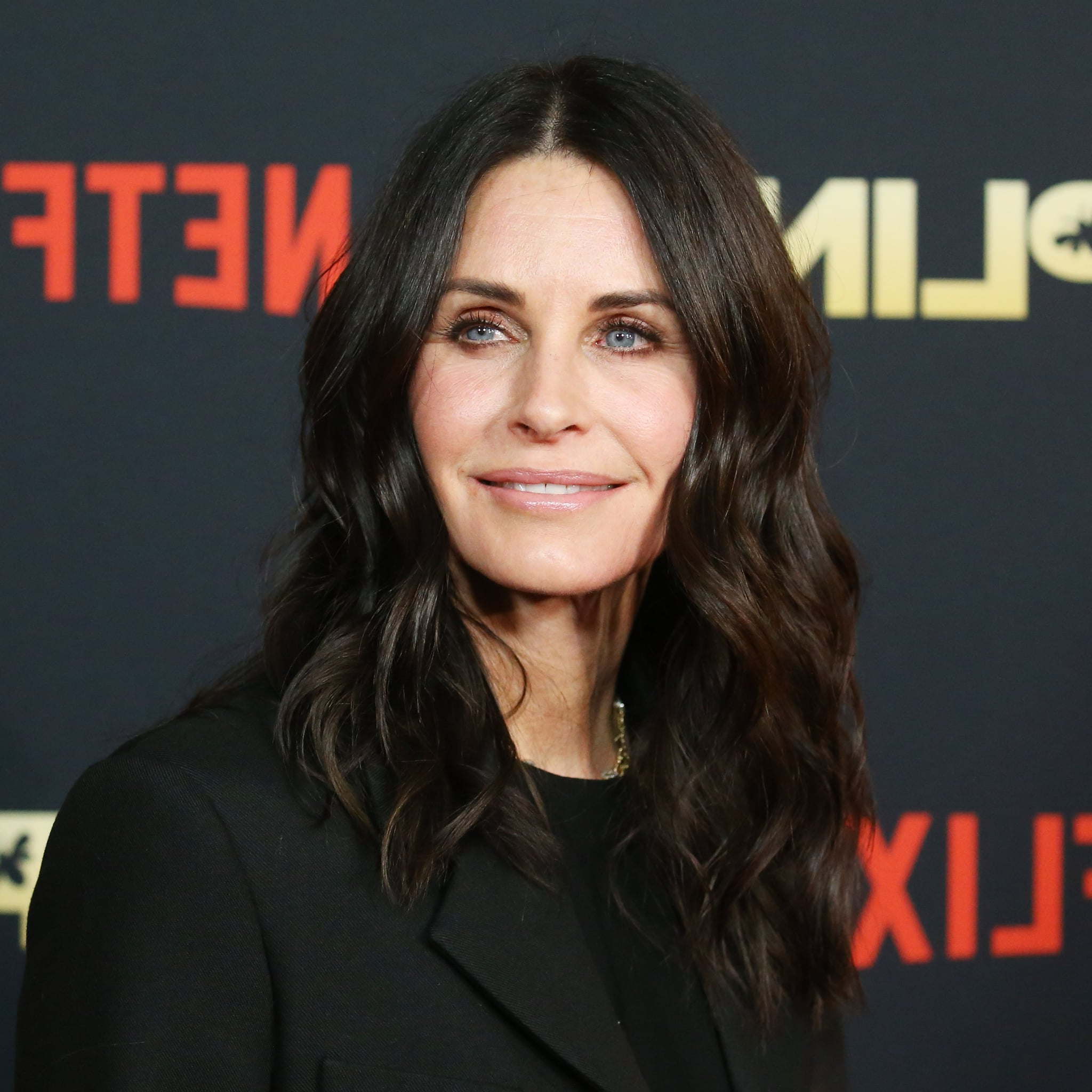 Courteney Cox Got A Lob Haircut With Bangs For Fall Pertaining To Curls Of Tinsel Shag Haircuts (View 18 of 20)