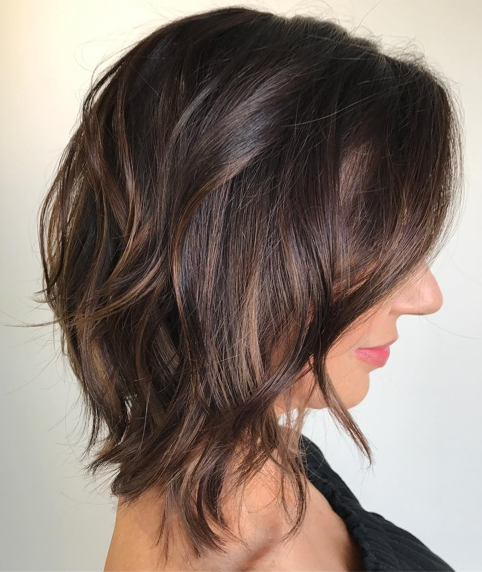 Current Dynamic Feathered Brunette Shag Haircuts Regarding Must Try Medium Length Layered Haircuts For (View 7 of 20)