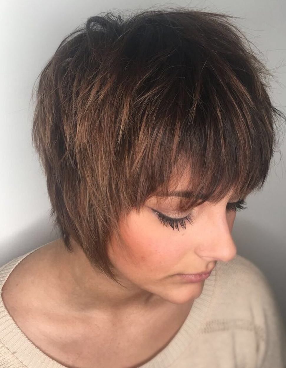Current Elongated Razored Straight Shag Haircuts With Bangs Within Top 25 Short Shag Haircuts Right Now – Short Bob Cuts (View 9 of 20)