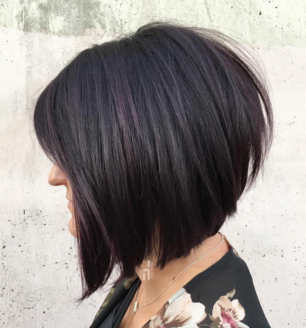 Current Gray Razored Shag Haircuts With Black Roots Pertaining To Find Your Best Bob Haircut For (View 12 of 20)