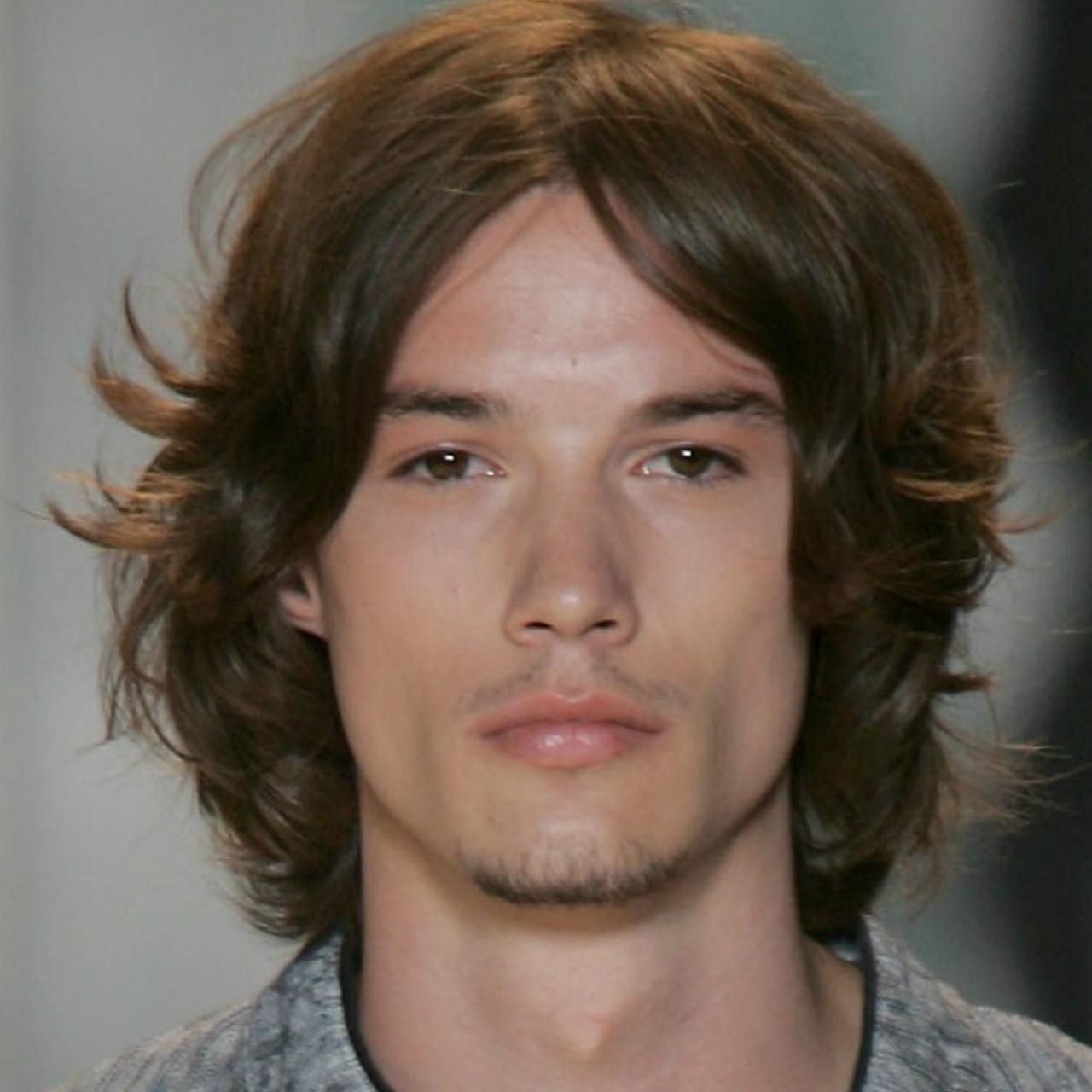 Current Long Black Haircuts With Light Flipped Up Ends With Long Hairstyles For Men Picture Gallery (View 15 of 20)