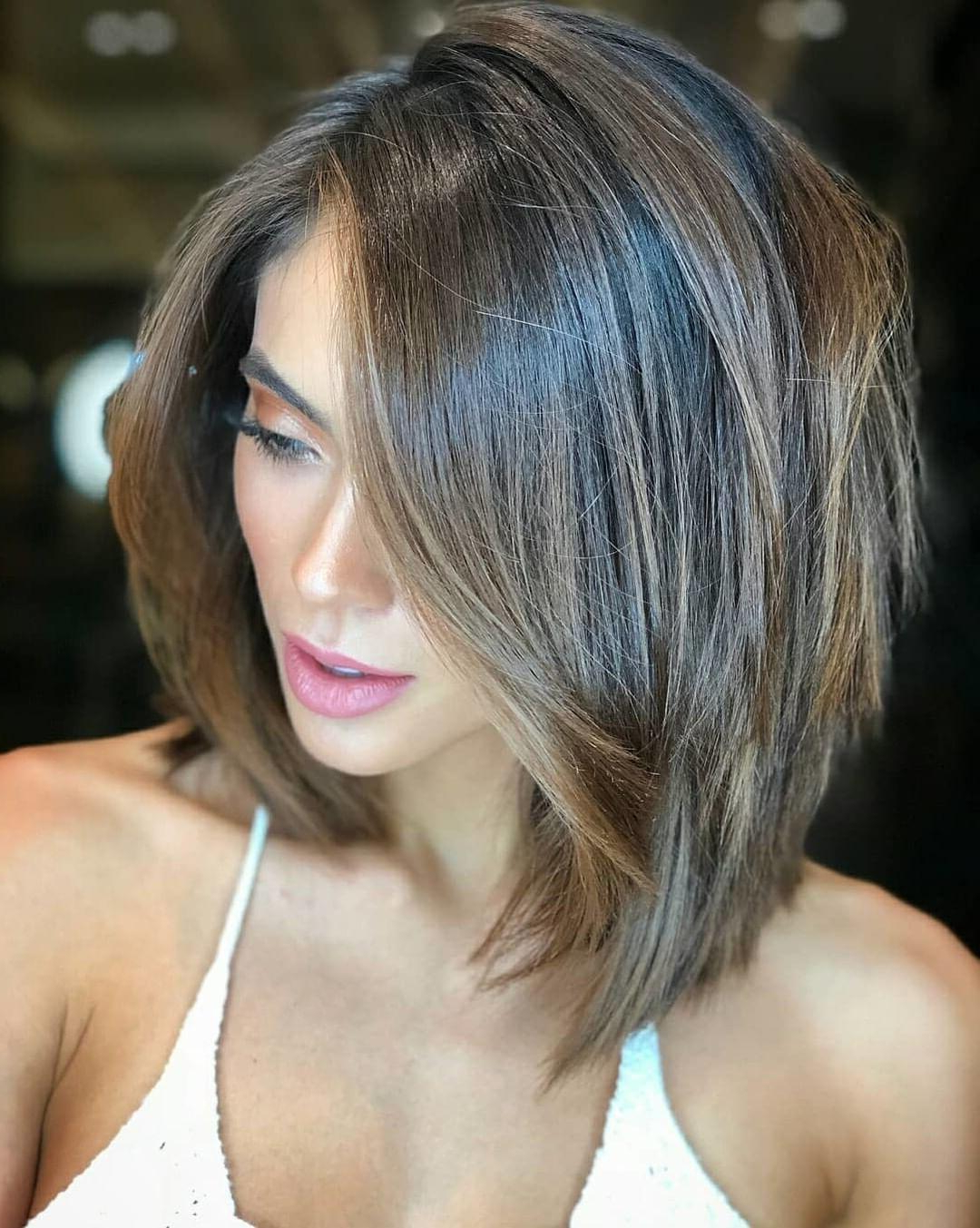 Current Lovely Golden Blonde Haircuts With Swoopy Layers In Super Cute Looks With Modern Layered Bob Hairstyles (View 18 of 20)