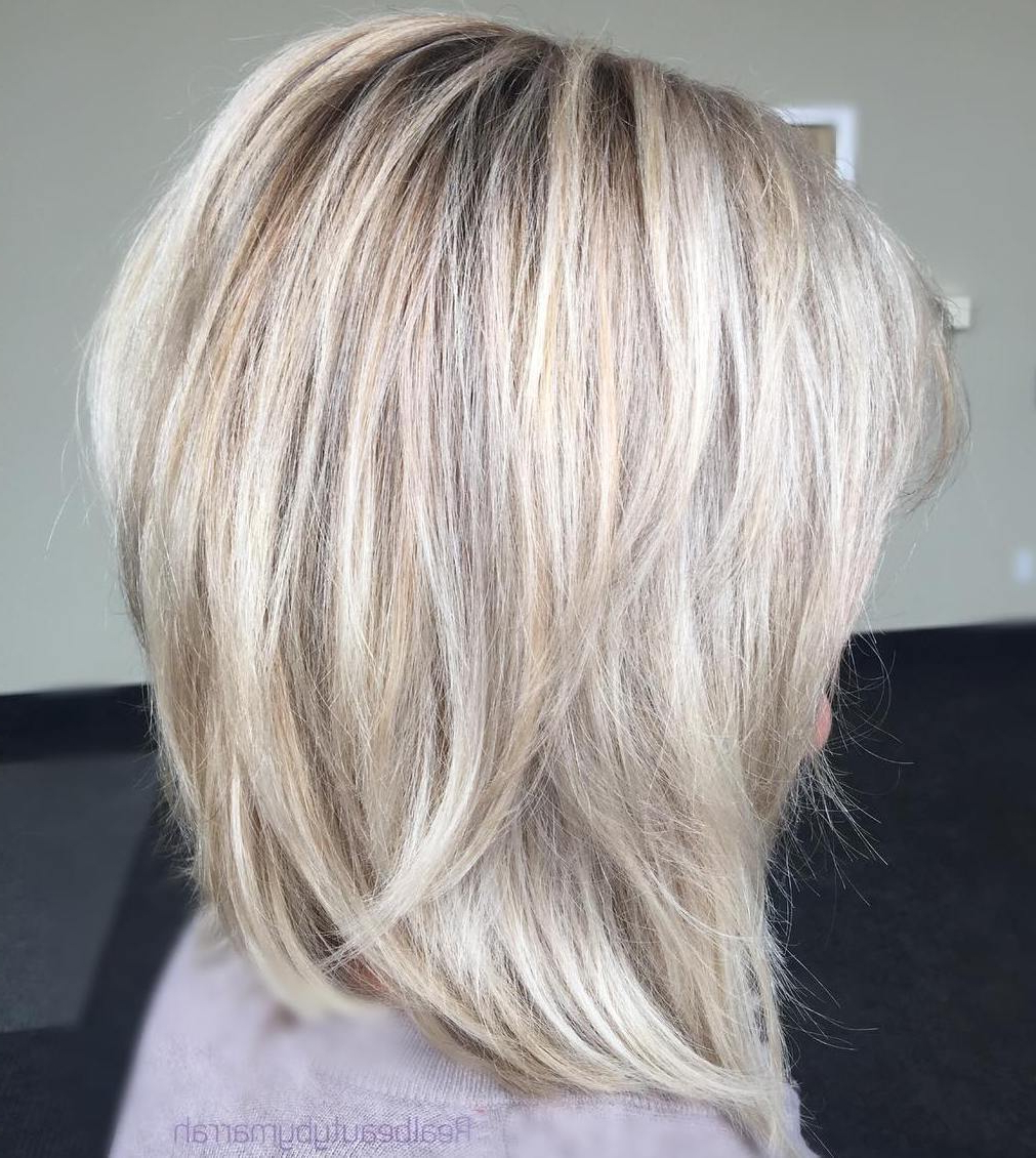 Current Lovely Golden Blonde Haircuts With Swoopy Layers Throughout 50 Fabulous Medium Length Layered Hairstyles – Hair Adviser (View 15 of 20)
