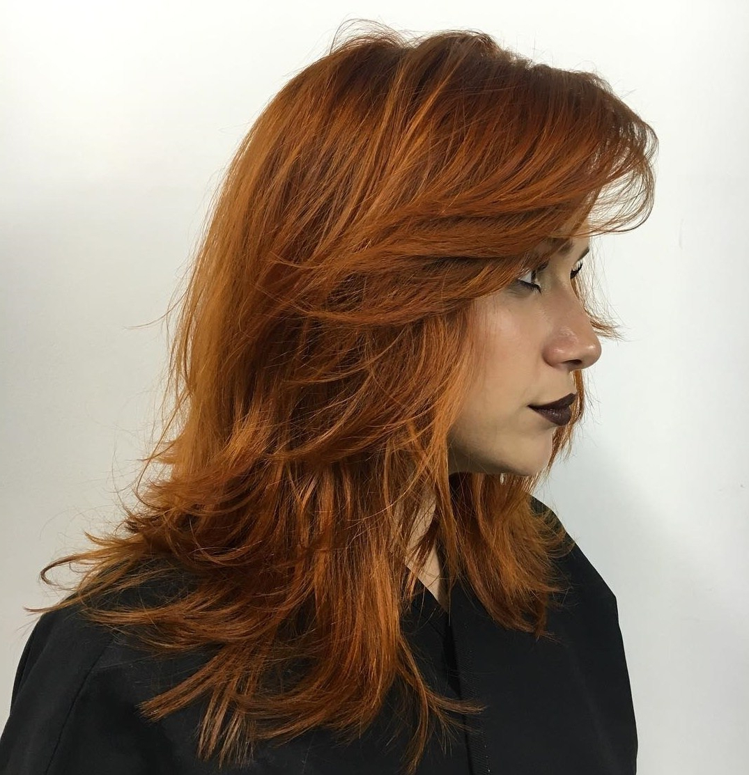 Current Medium Copper Brown Shag Haircuts For Thick Hair Pertaining To 50 Fabulous Medium Length Layered Hairstyles – Hair Adviser (View 9 of 20)
