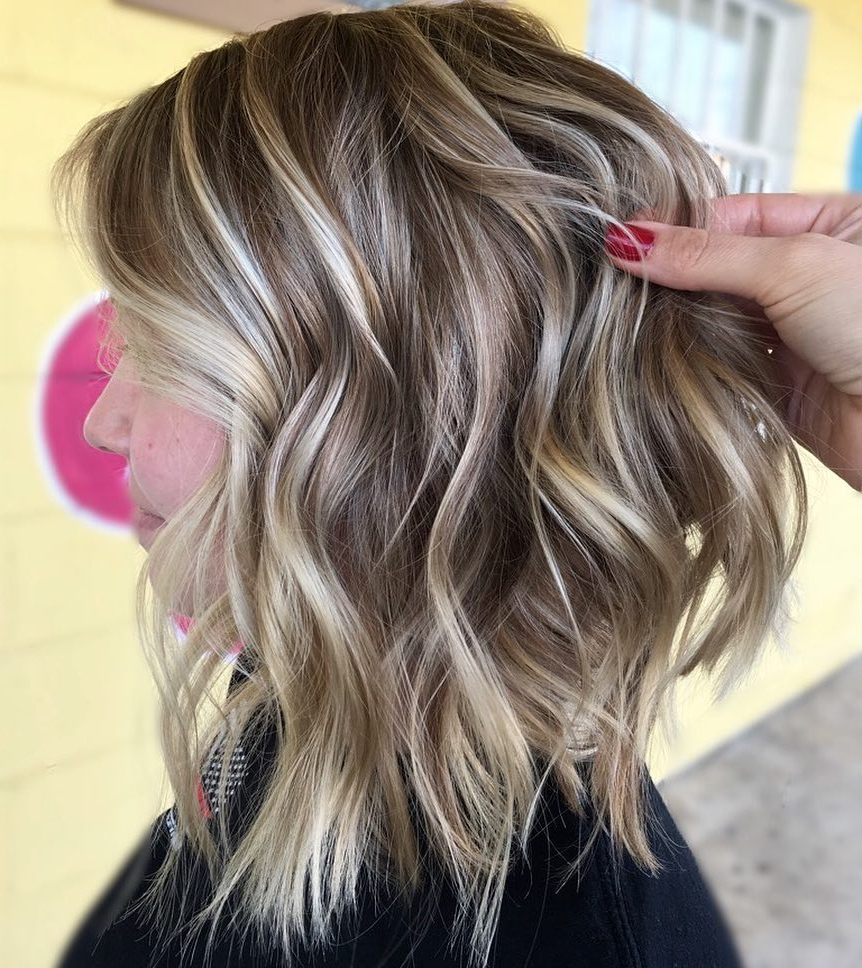 Current Medium Wavy Bronde Shag Haircuts For Find Your Best Bob Haircut For (View 12 of 20)