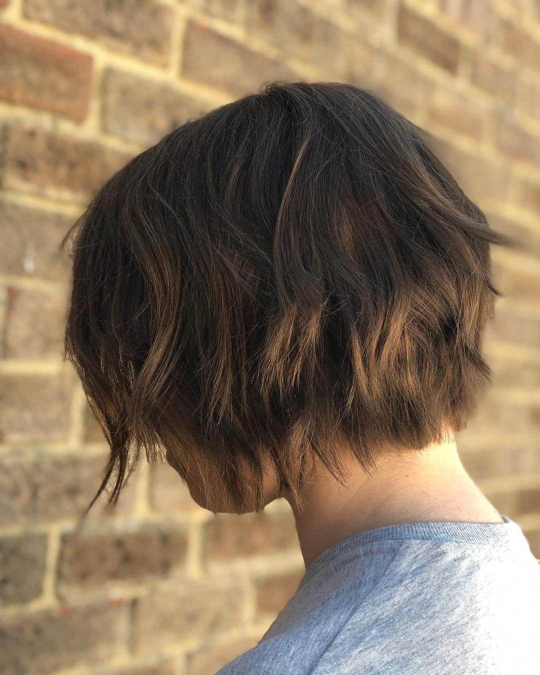 Current Pretty Shaggy Brunette Bob Hairstyles Within 30 Glamorous Choppy Bob Hairstyles And Haircuts (View 4 of 20)