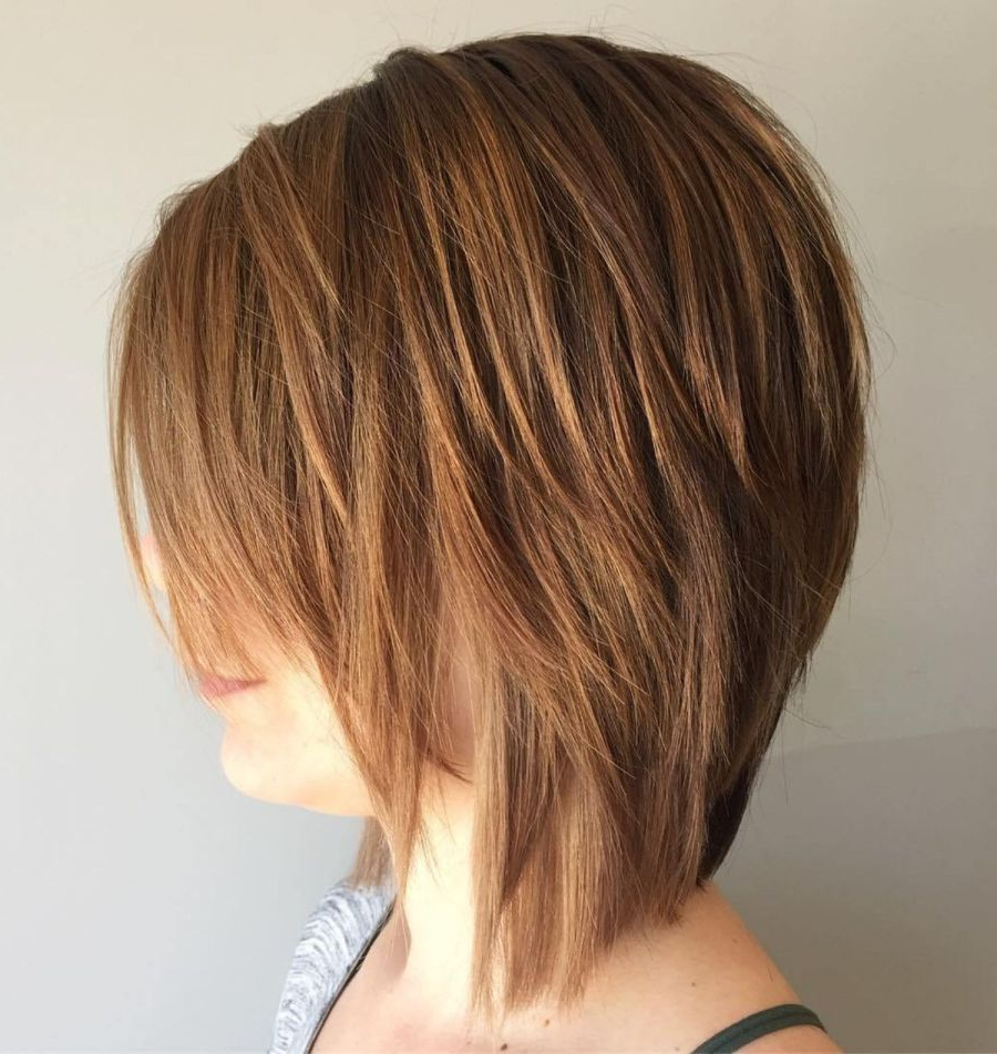 Featured Photo of Side Parted Layered Bob Haircuts