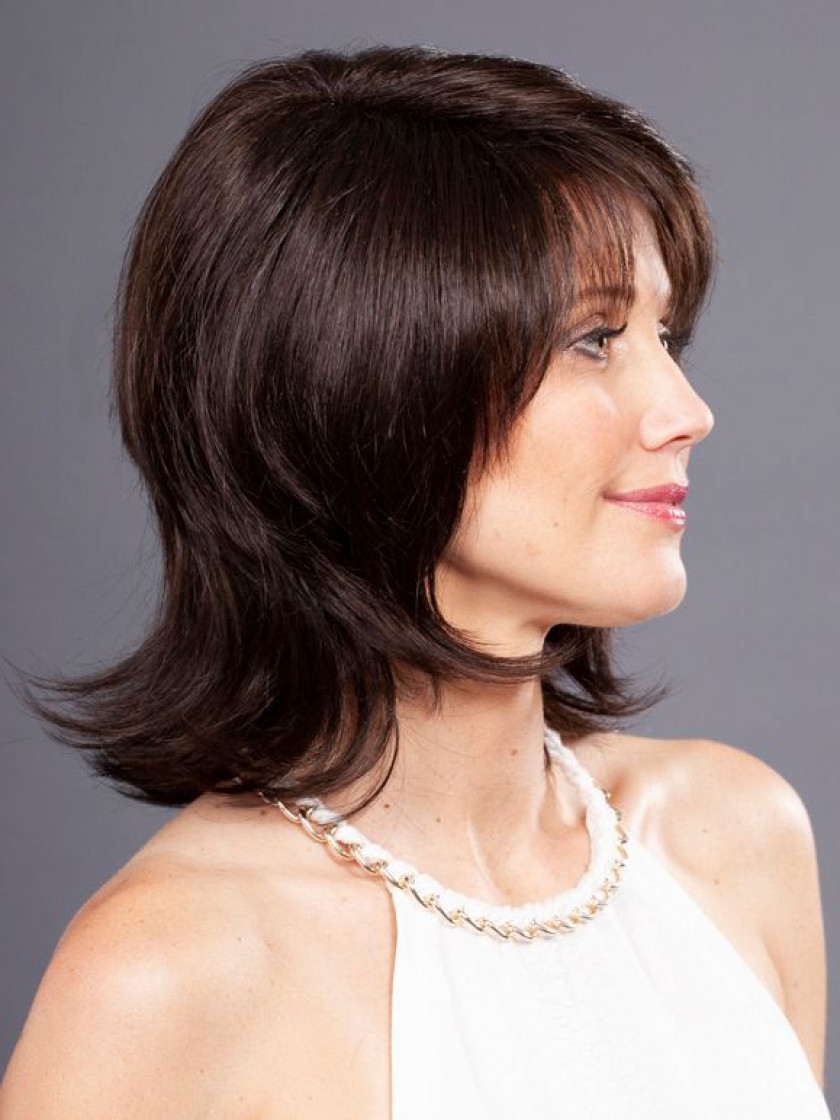 Dayna Lace Front Wig Regarding Jaw Length Shaggy Walnut Brown Bob Hairstyles (Gallery 11 of 20)