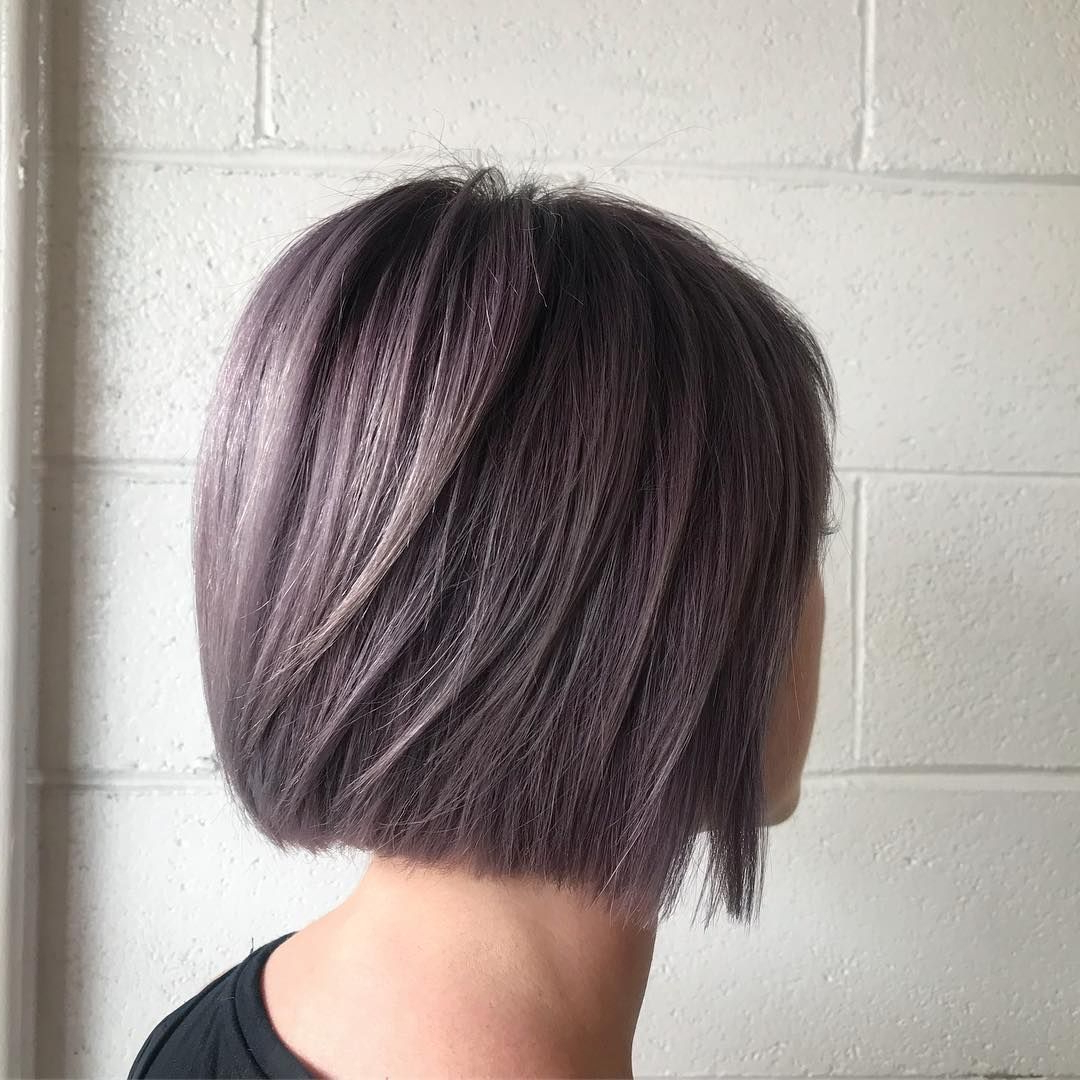 Dusty Lavender Lilac Purple Hair With Aveda Color On A Short Within Dusty Lavender Short Shag Haircuts (View 2 of 20)
