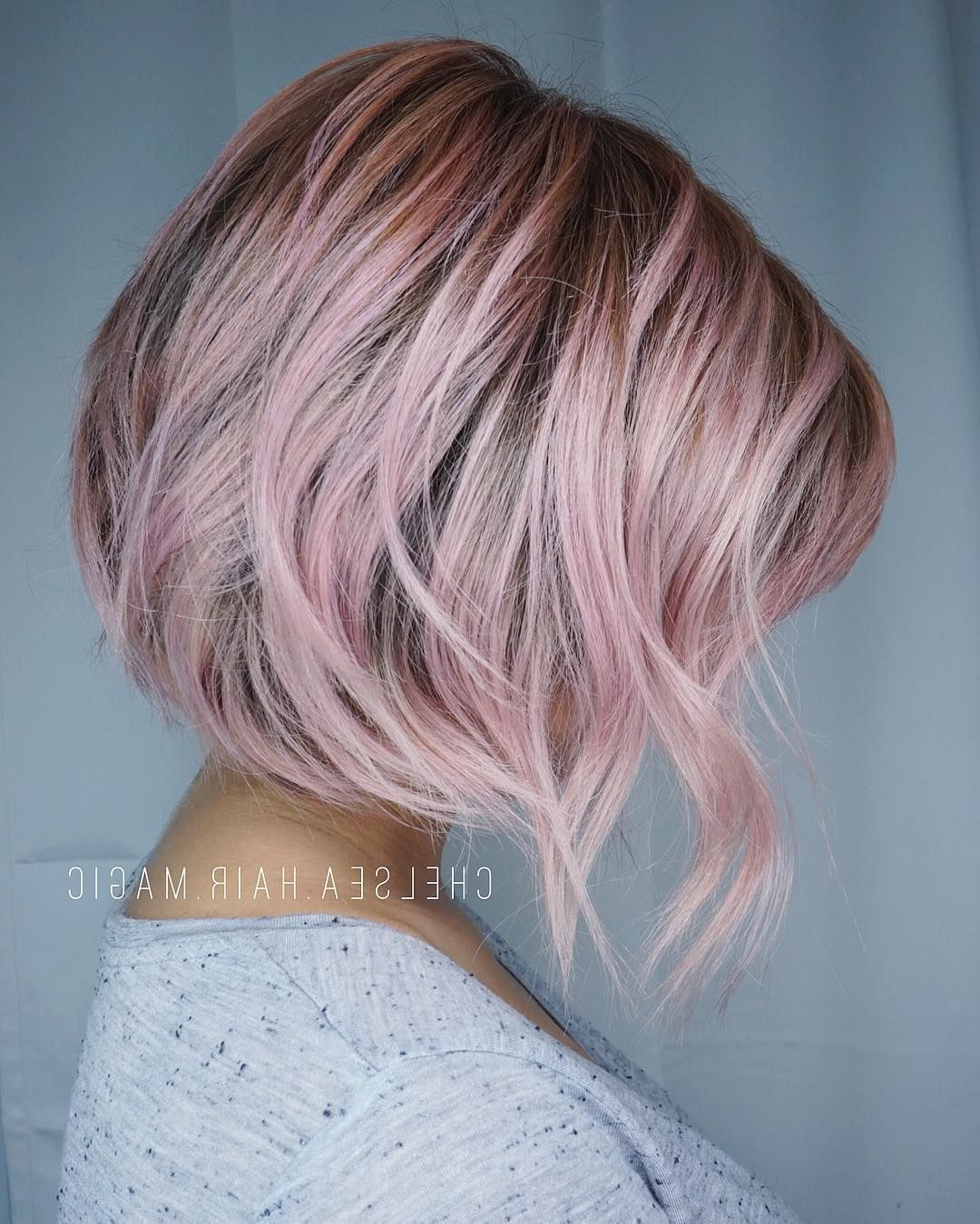 Dusty Rose Tones Due To High Volume In Texts Please Be Within Favorite Tousled Coral Crop Shag Haircuts (View 14 of 20)
