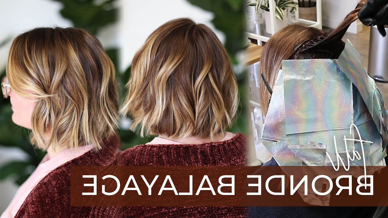 Fall Bronde Balayage | How To Do This 2019 Fall Hair Color Trend With My Foilayage Technique Regarding Bronde Bob Shag Haircuts With Short Back (Gallery 19 of 20)
