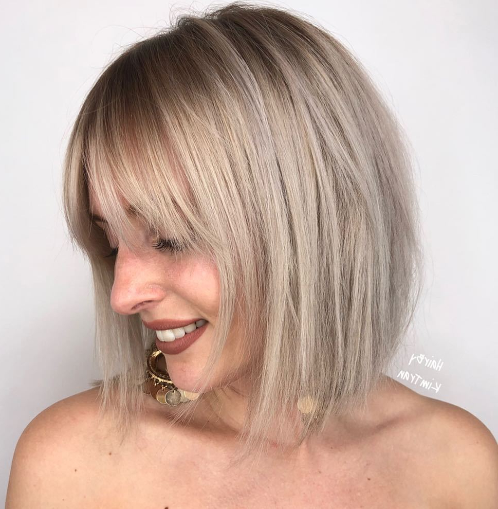 Famous Choppy Bright Blonde Bob Hairstyles Inside Find Your Best Bob Haircut For (View 16 of 20)