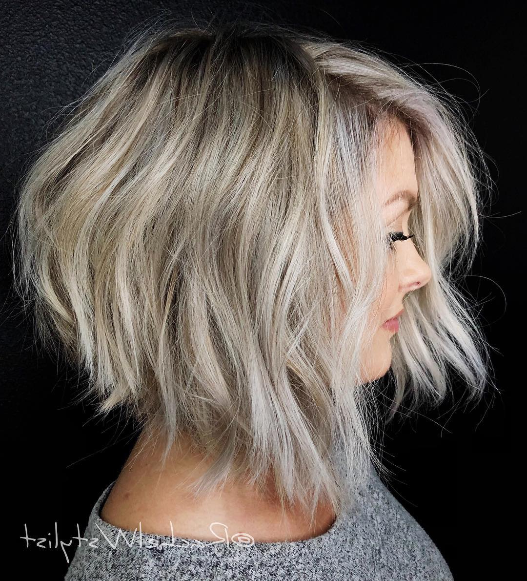 Famous Choppy Bright Blonde Bob Hairstyles Pertaining To Find Your Best Bob Haircut For (View 9 of 20)