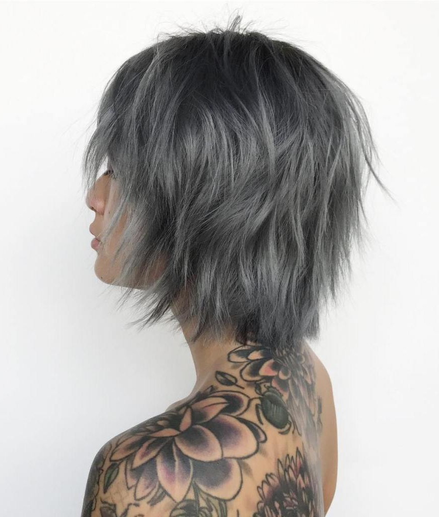 Famous Gray Razored Shag Haircuts With Black Roots In 50 Best Short Haircuts And Hairstyles For Fine Hair – Hair (Gallery 7 of 20)