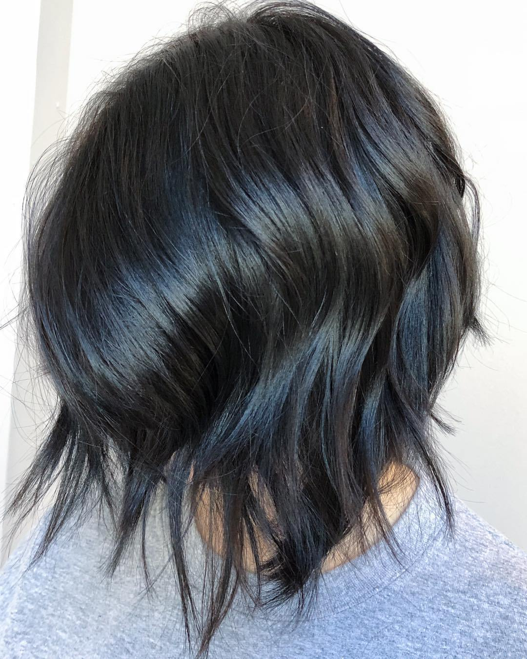 Famous Gray Razored Shag Haircuts With Black Roots Throughout 50 Inverted Bob Haircuts That Are Uber Fashionable – Hair (View 11 of 20)