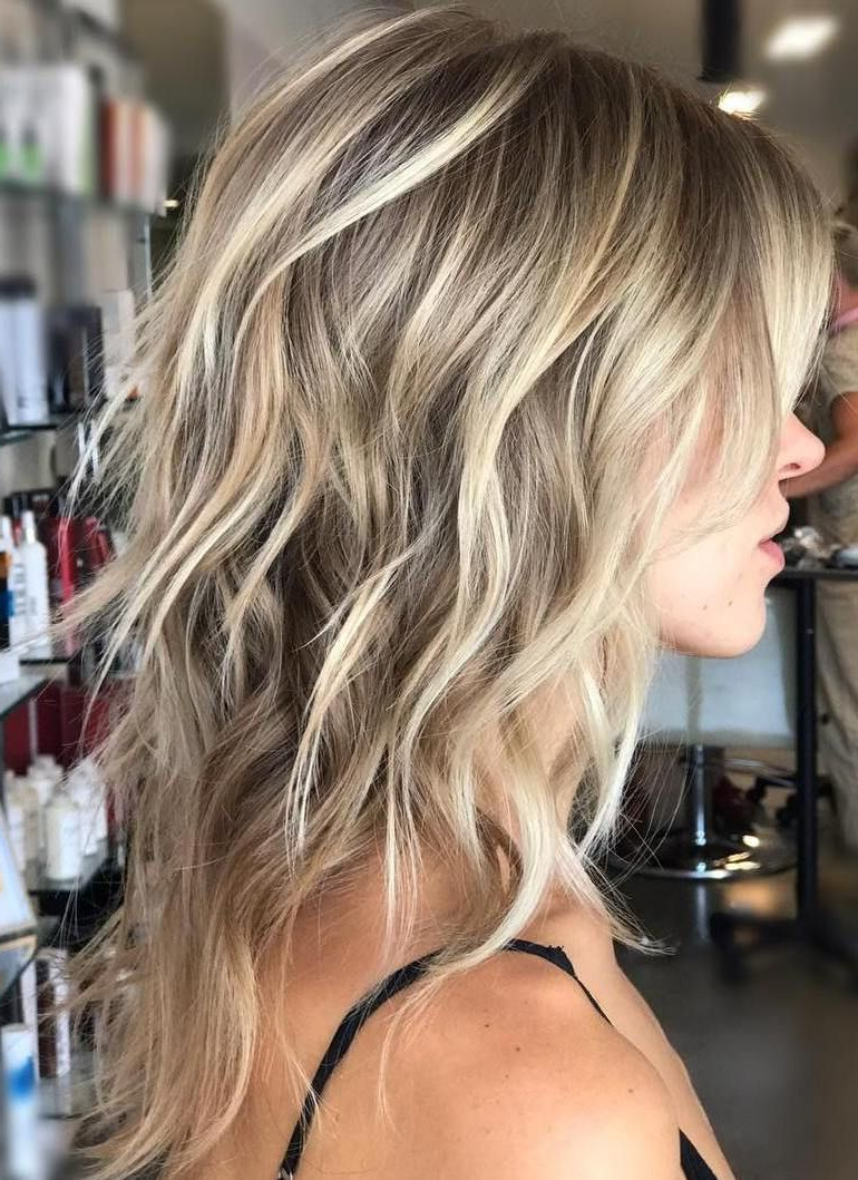 Famous Medium Haircuts With Razored Face Framing Layers Regarding Pin On Fav Long Hairstyles (View 8 of 20)