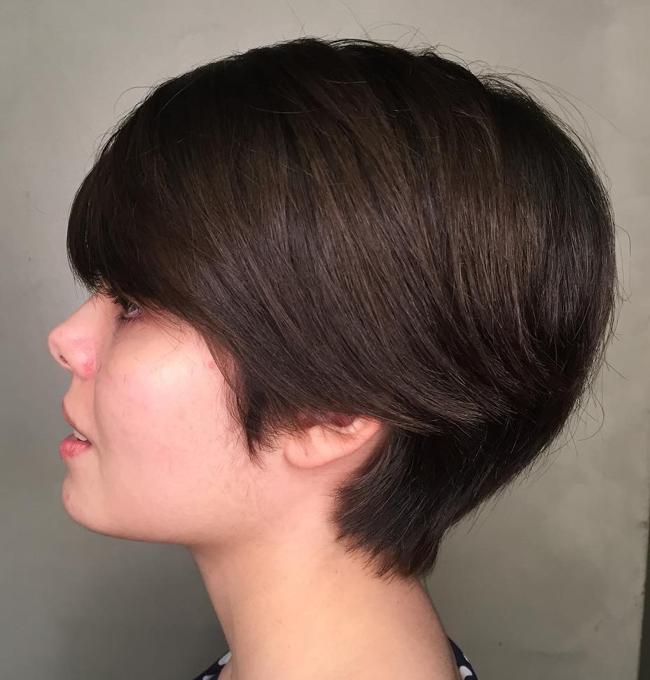 Famous Razored Gray Bob Hairstyles With Bangs Intended For 40 Short Hairstyles For Thick Hair (Trendy In 2019 (View 10 of 20)