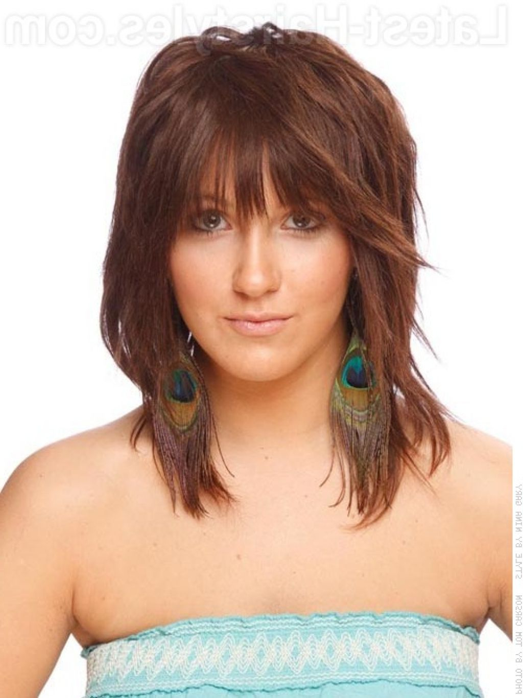 Famous Shoulder Length Feathered Hairstyles With Bangs In Medium Feathered Haircuts Best Feathered Hairstyles For (View 3 of 20)