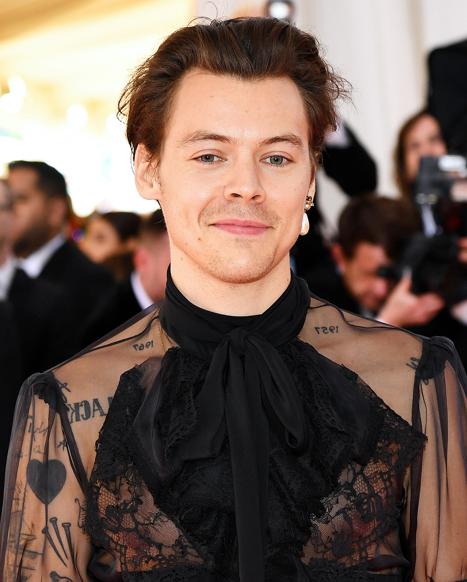 Fans Are Going Crazy Over Harry Styles' Latest Haircut Regarding Well Liked Long Black Haircuts With Light Flipped Up Ends (Gallery 19 of 20)