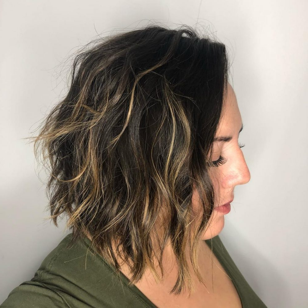 Fashionable Black Angled Bob Hairstyles With Shaggy Layers With 100 Hottest Choppy Bob Hairstyles For Women In (View 11 of 20)