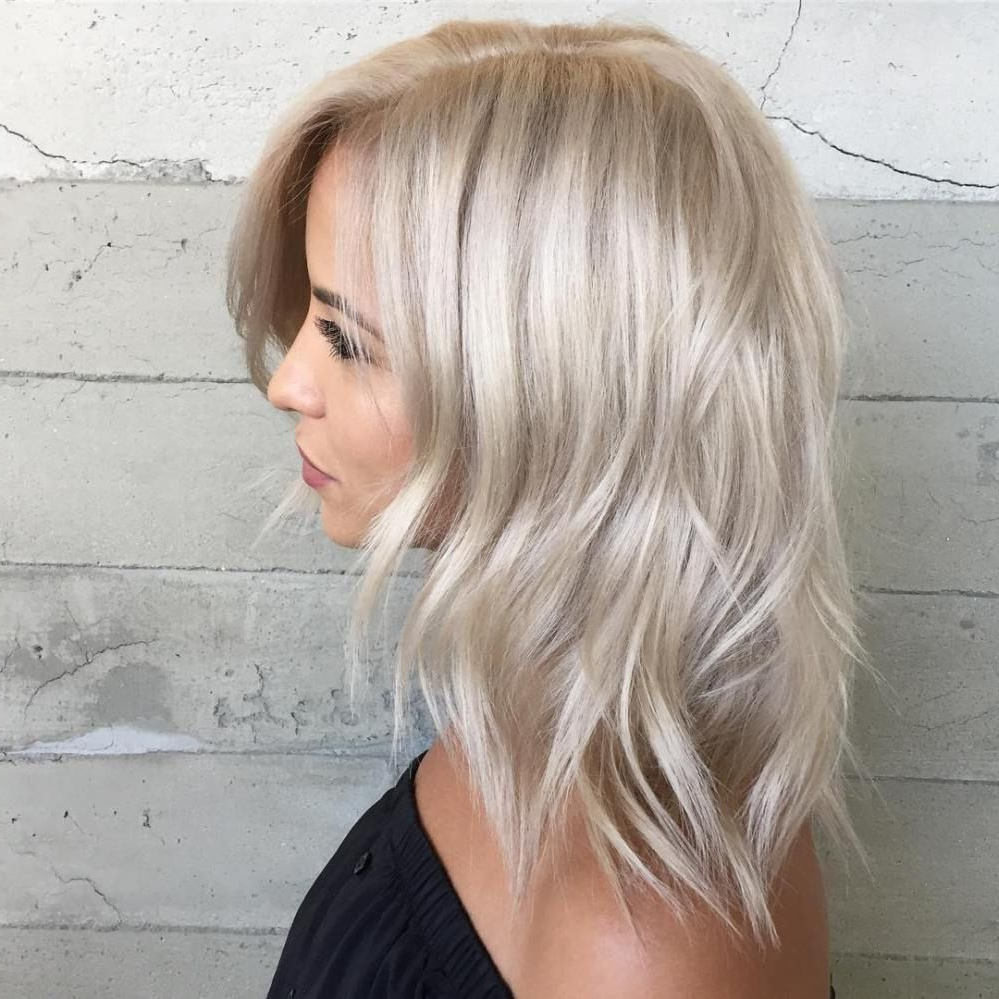 Fashionable Blonde Medium Haircuts In 70 Devastatingly Cool Haircuts For Thin Hair In 2019 (Gallery 12 of 20)