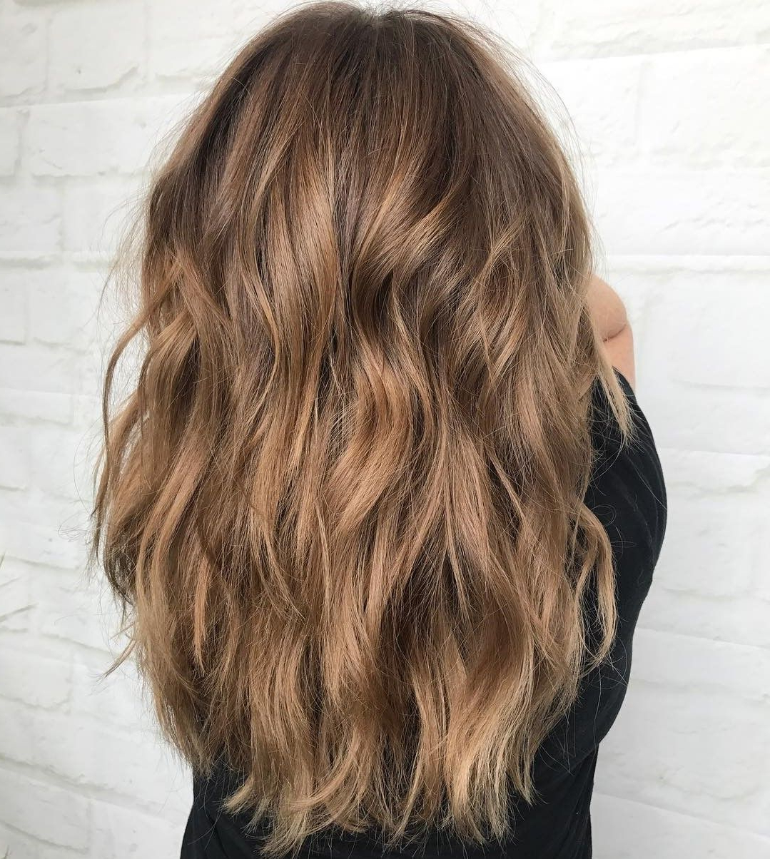 Fashionable Long Light Brown Shag Haircuts Pertaining To 60 Lovely Long Shag Haircuts For Effortless Stylish Looks In (Gallery 2 of 20)
